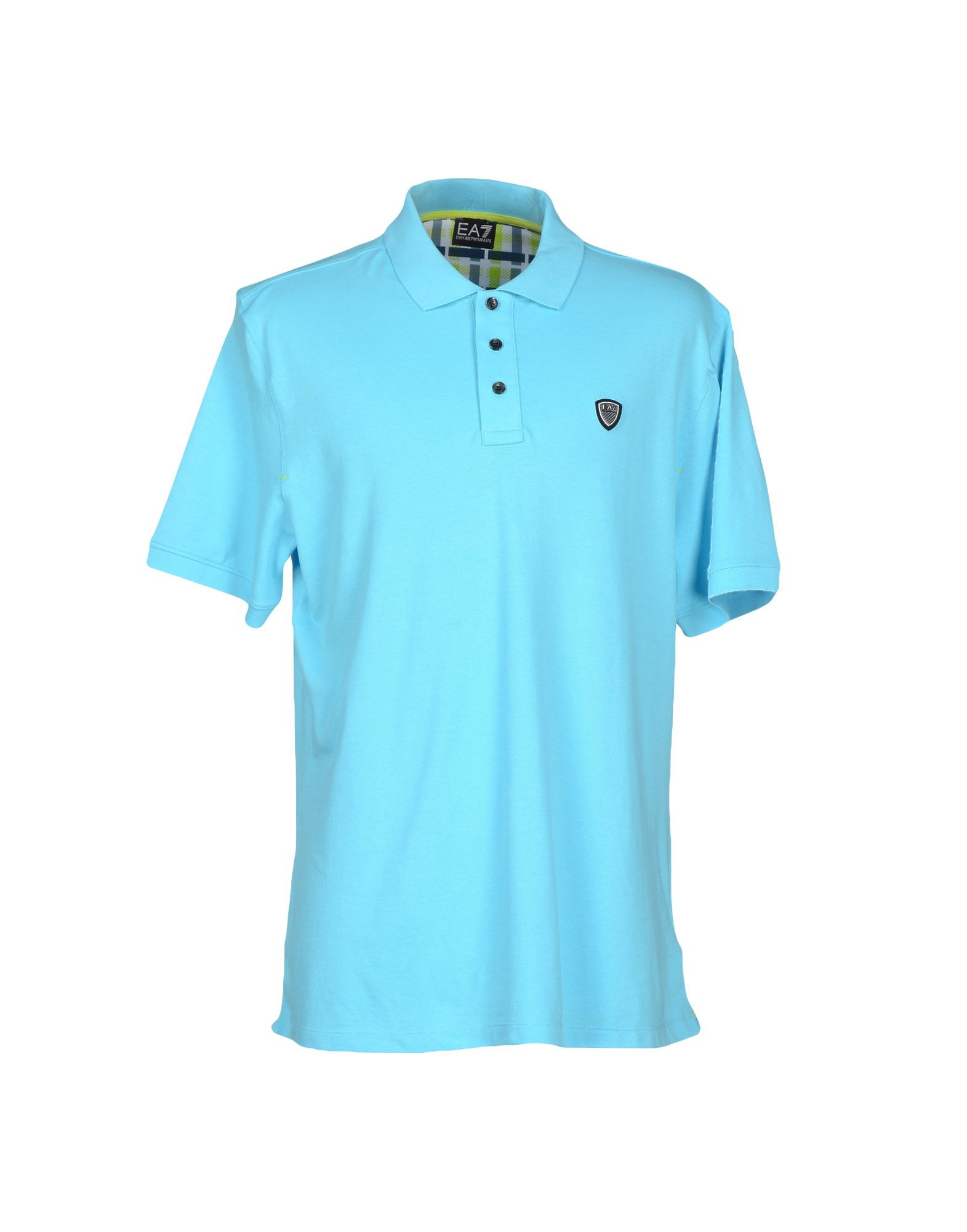 ea7 polo shirt in teal for men turquoise lyst