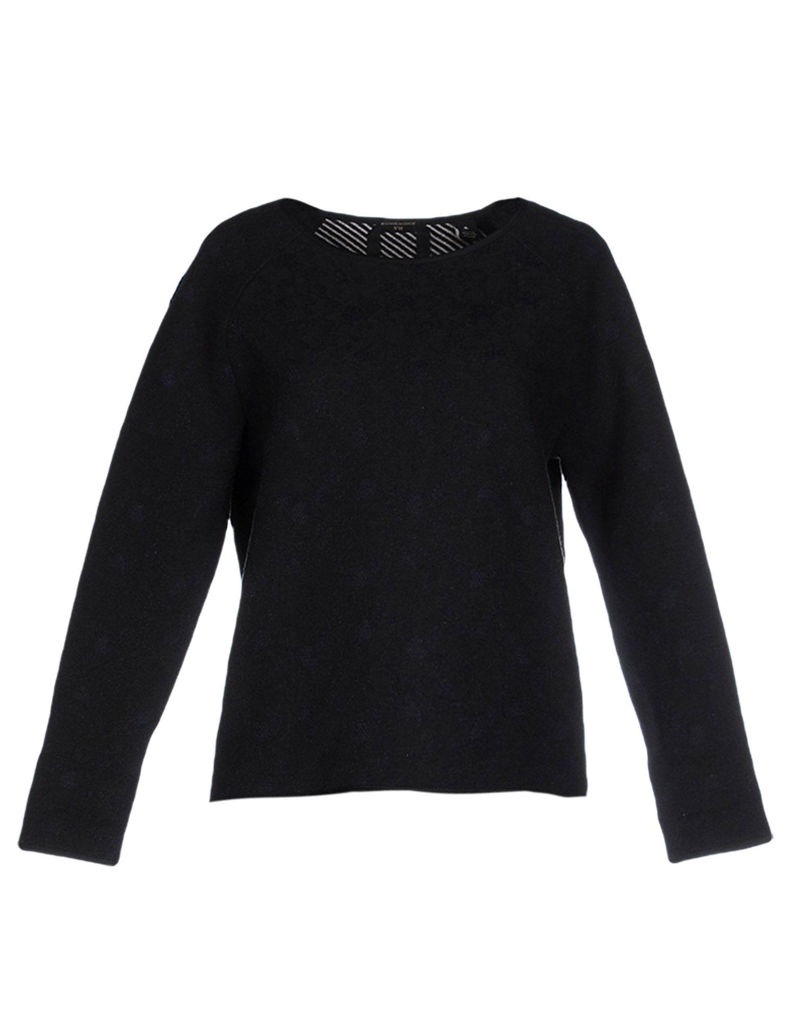Maison scotch sweatshirt in black lyst for Atelier maison scotch