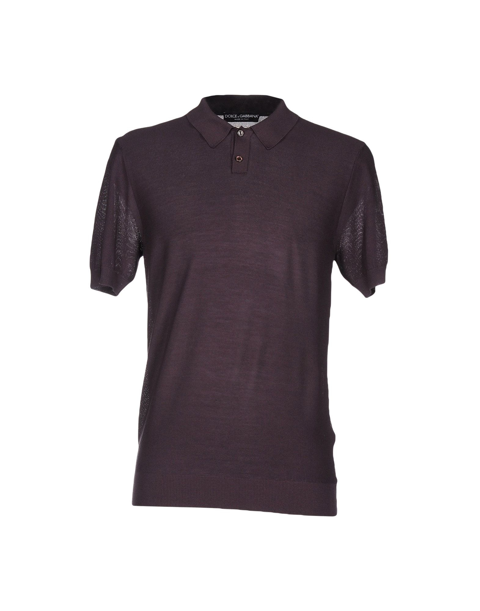 Lyst Dolce Gabbana Polo Shirt In Brown For Men