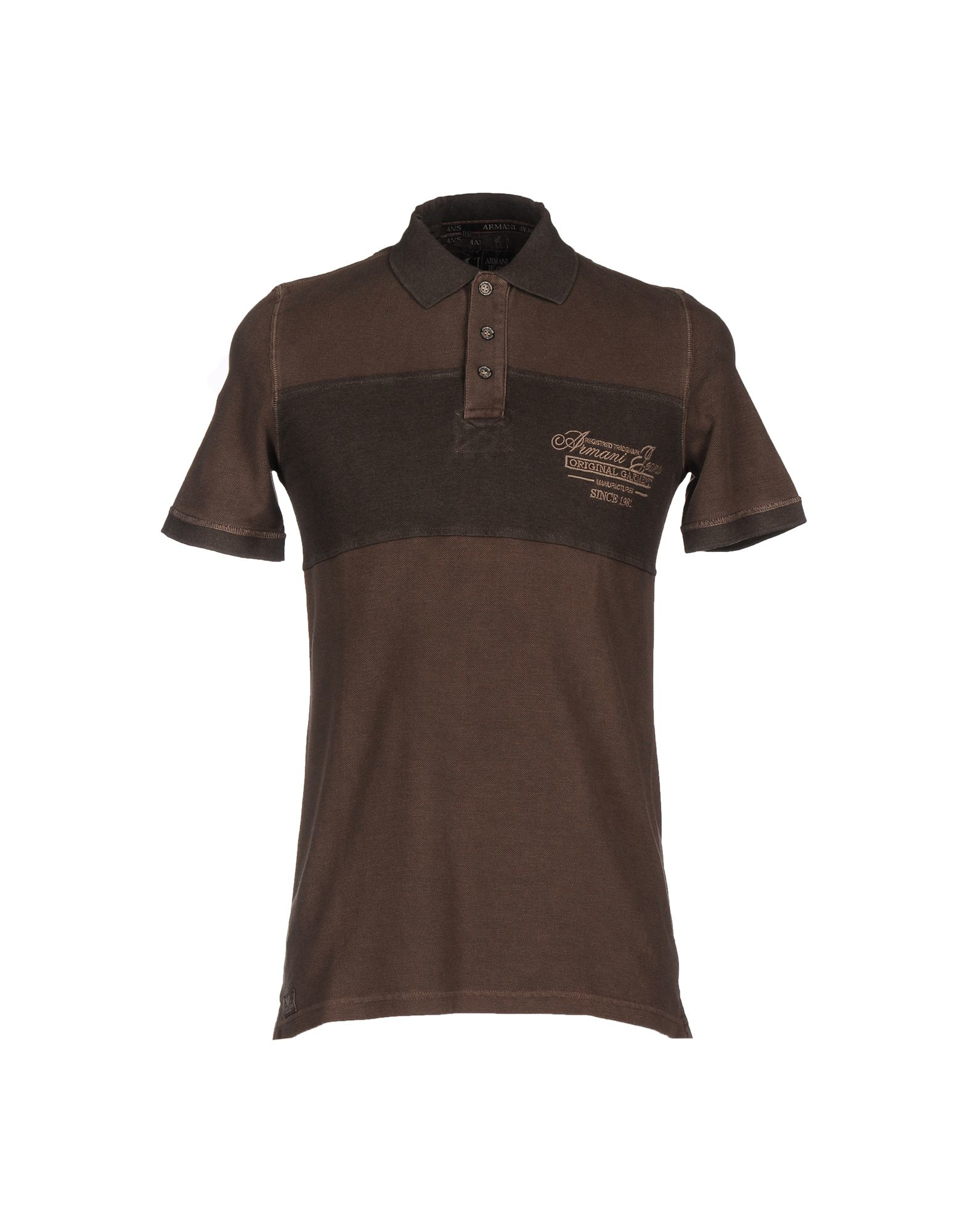 Armani Jeans Polo Shirt In Brown For Men Lyst