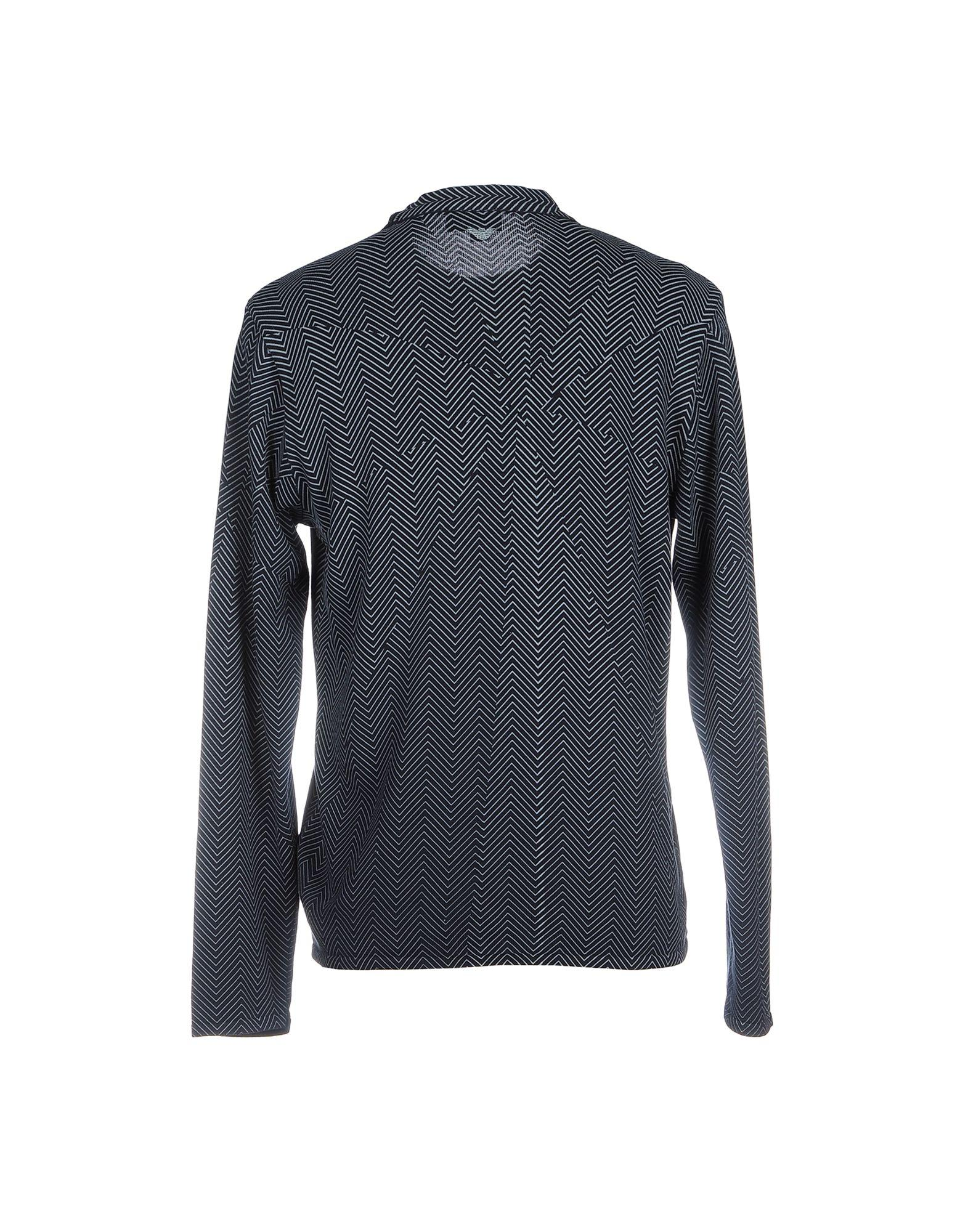 lyst emporio armani sweater in blue for men. Black Bedroom Furniture Sets. Home Design Ideas