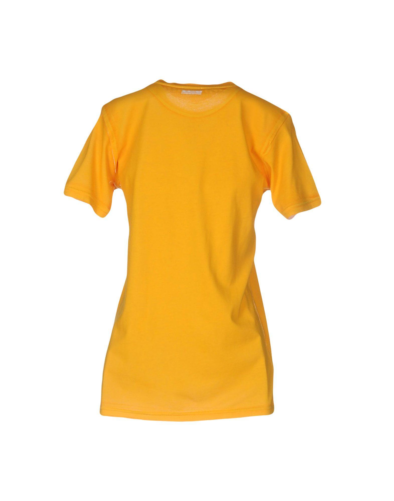 Miu miu t shirt in yellow lyst for Miu miu t shirt