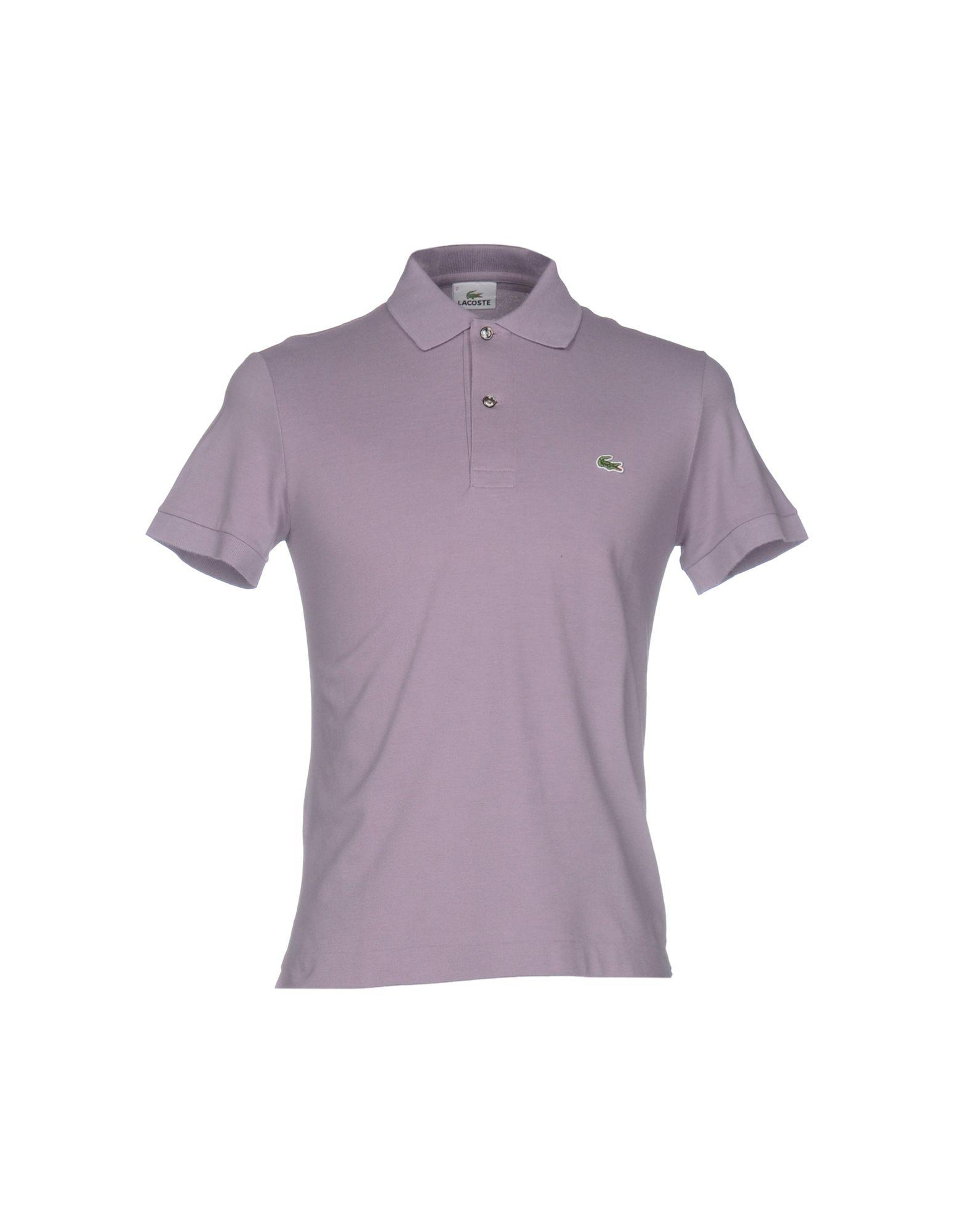 Lyst lacoste polo shirt in purple for men for Lacoste poloshirt weiay