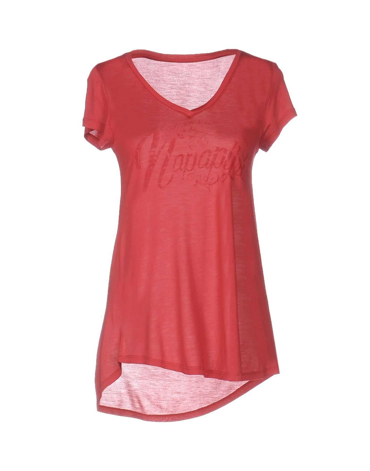Lyst napapijri t shirt in red for Lands end logo shirts