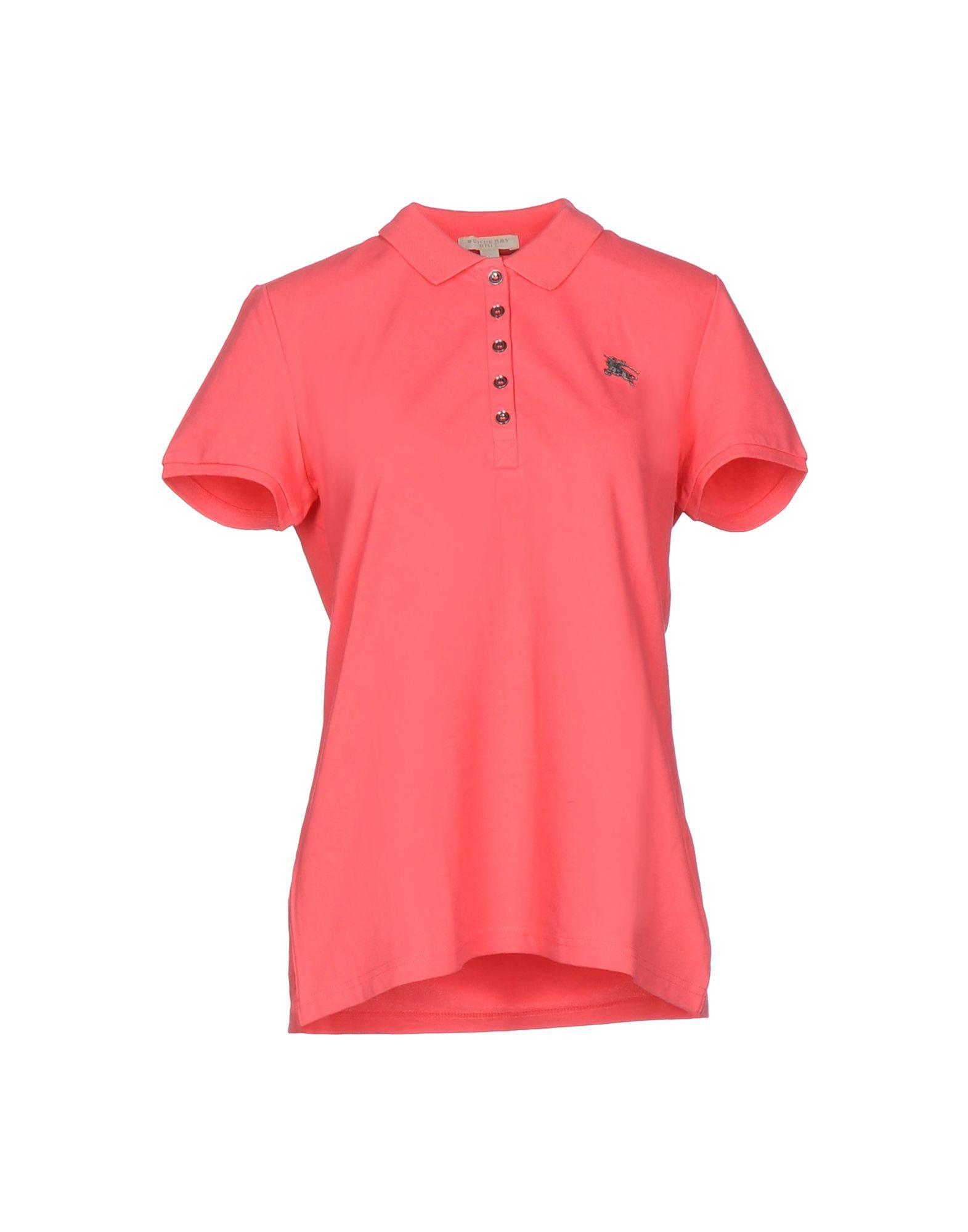 Burberry Brit Polo Shirt In Pink Lyst