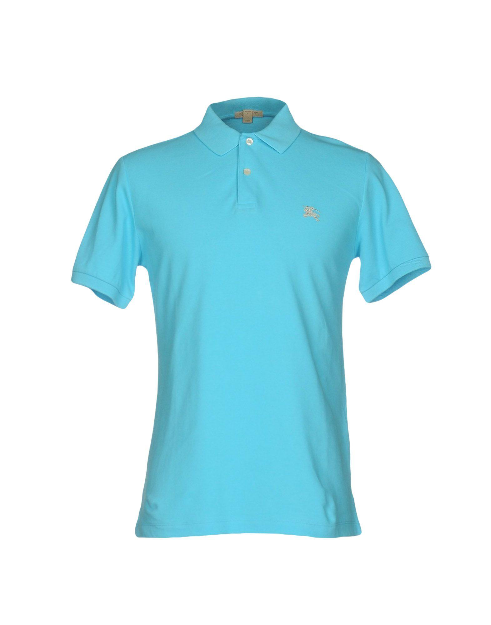Burberry Brit Polo Shirt In Blue For Men Lyst