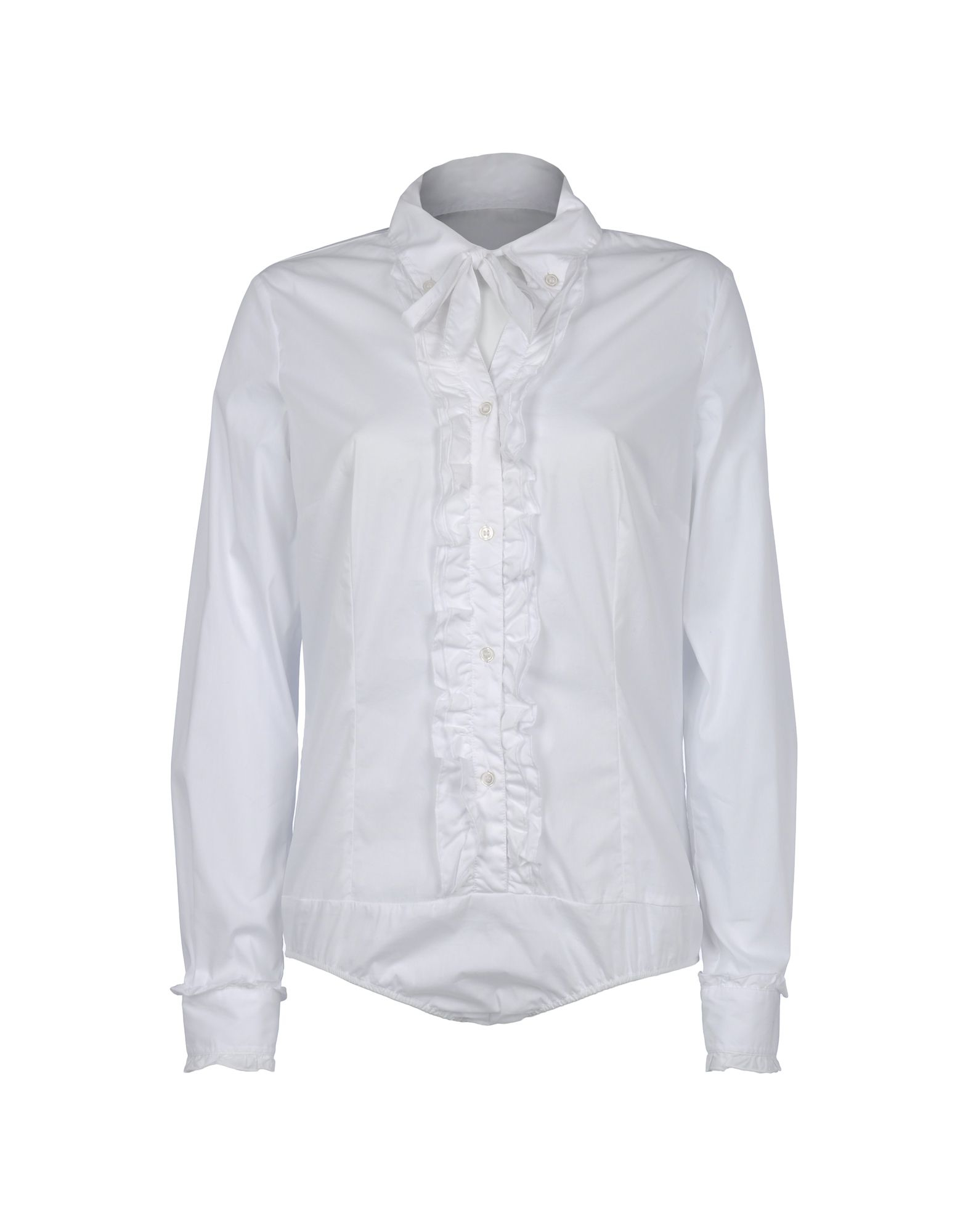 ae410879418e5 Lyst - Love Moschino Long Sleeve Shirt in White