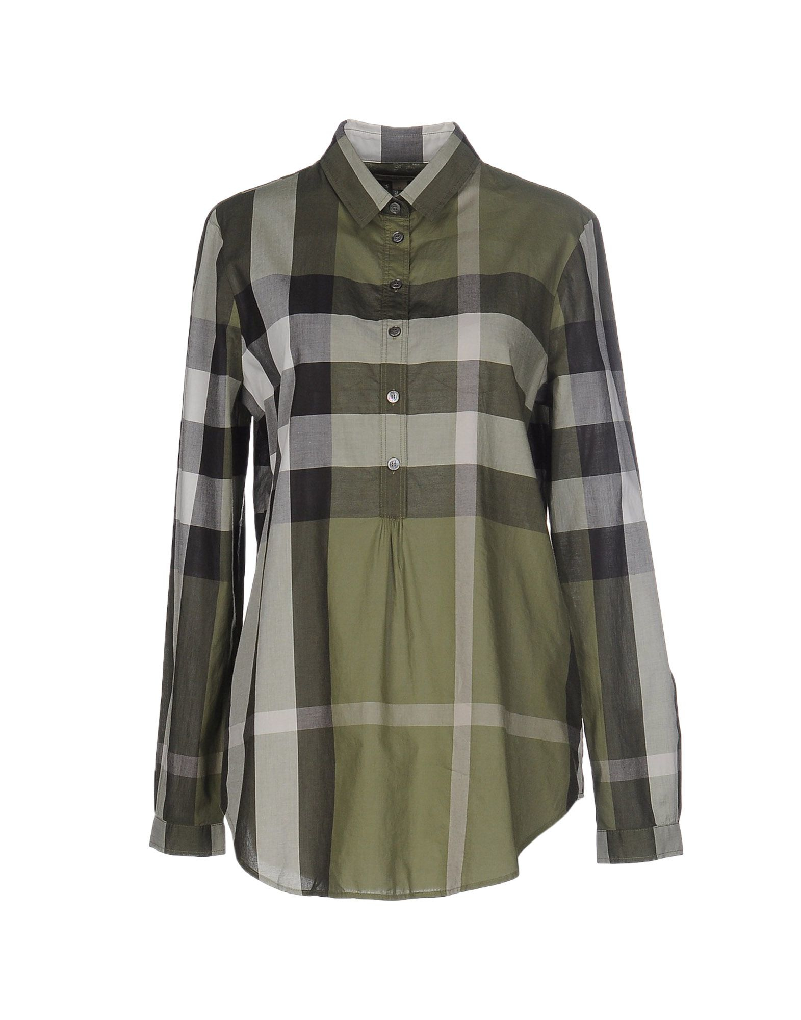 Lyst burberry brit shirt in green for Burberry brit green plaid shirt