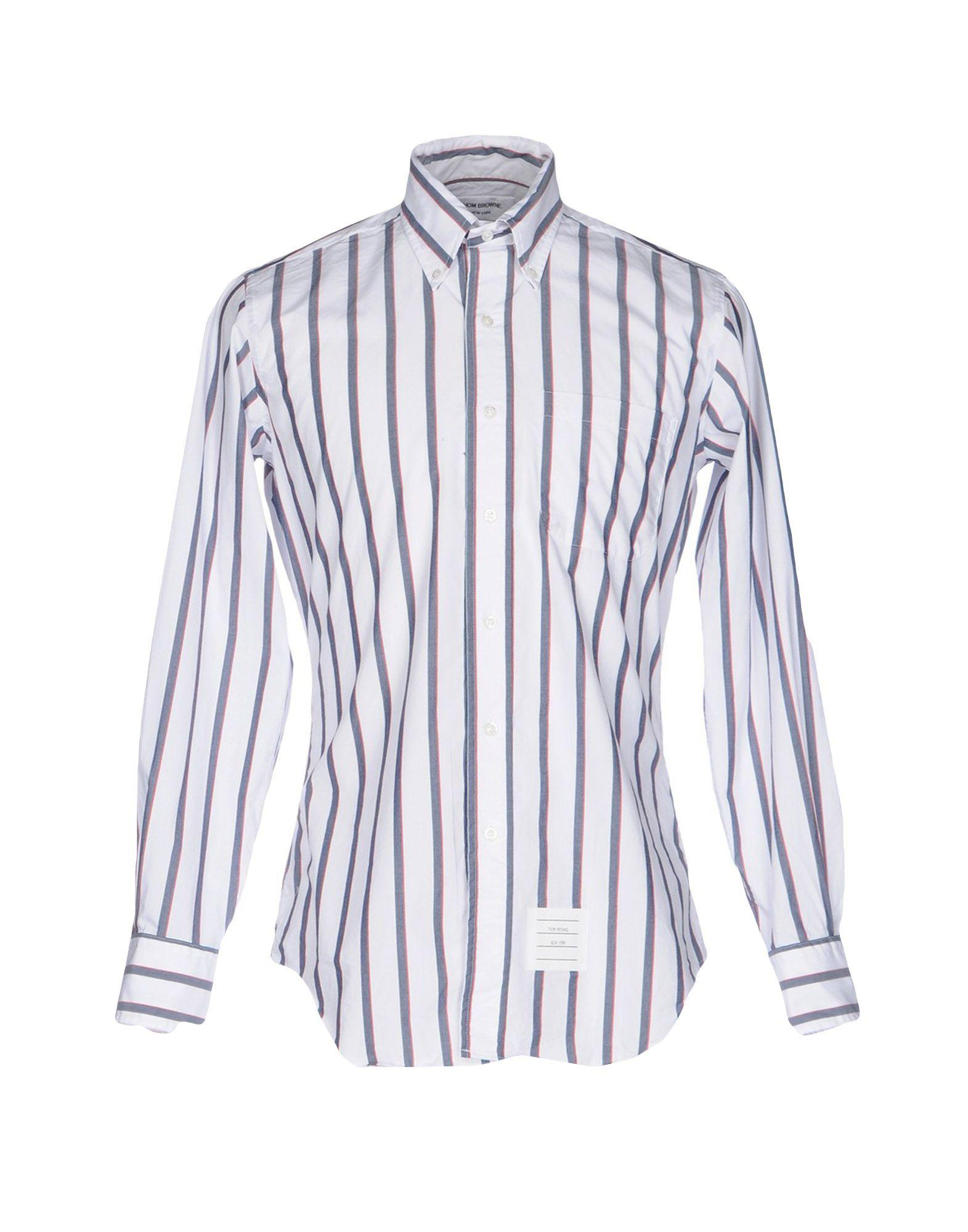 Lyst thom browne shirt in white for men for Thom browne white shirt