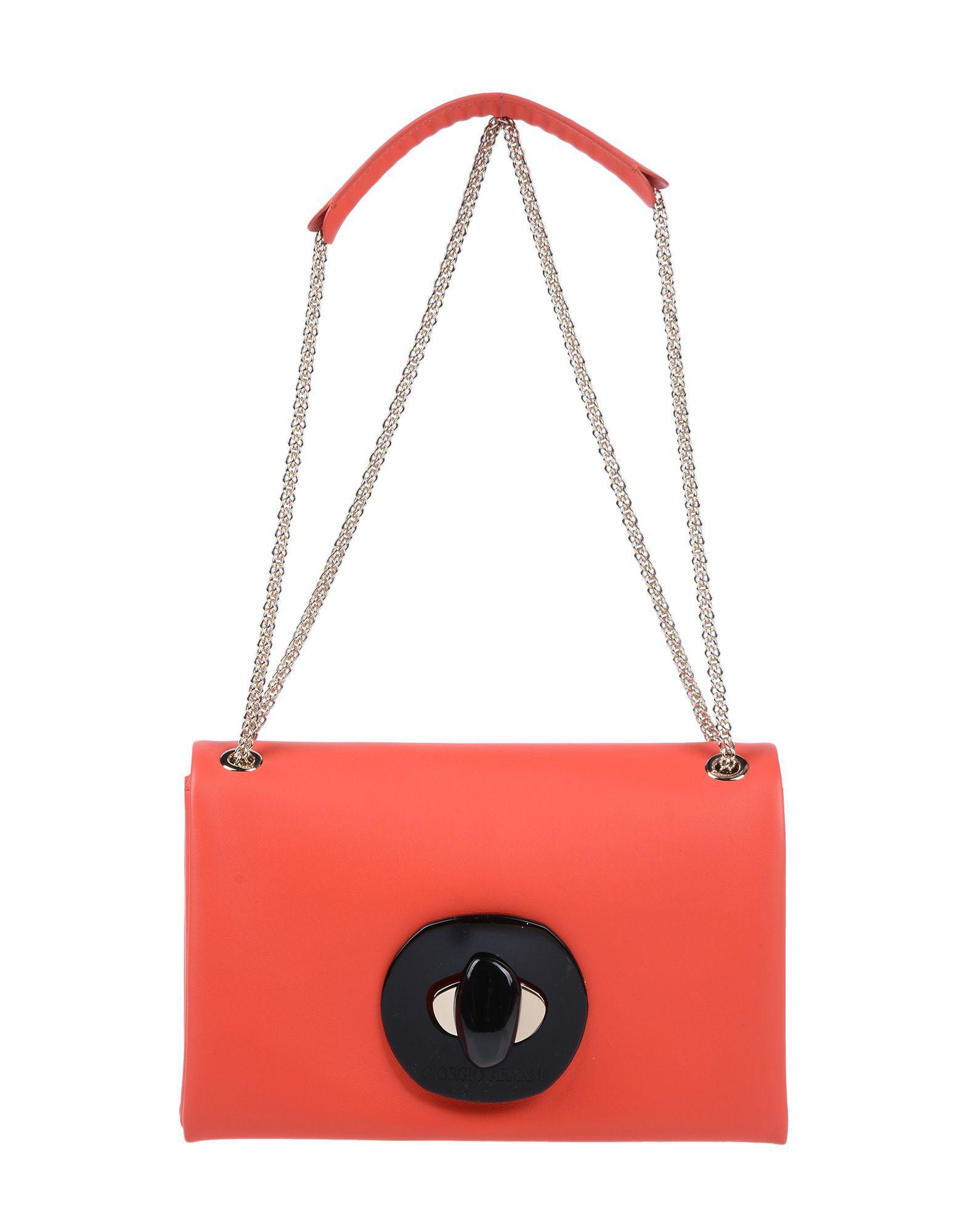 Lyst - Sac porté épaule Giorgio Armani en coloris Rouge db0d62503a2b