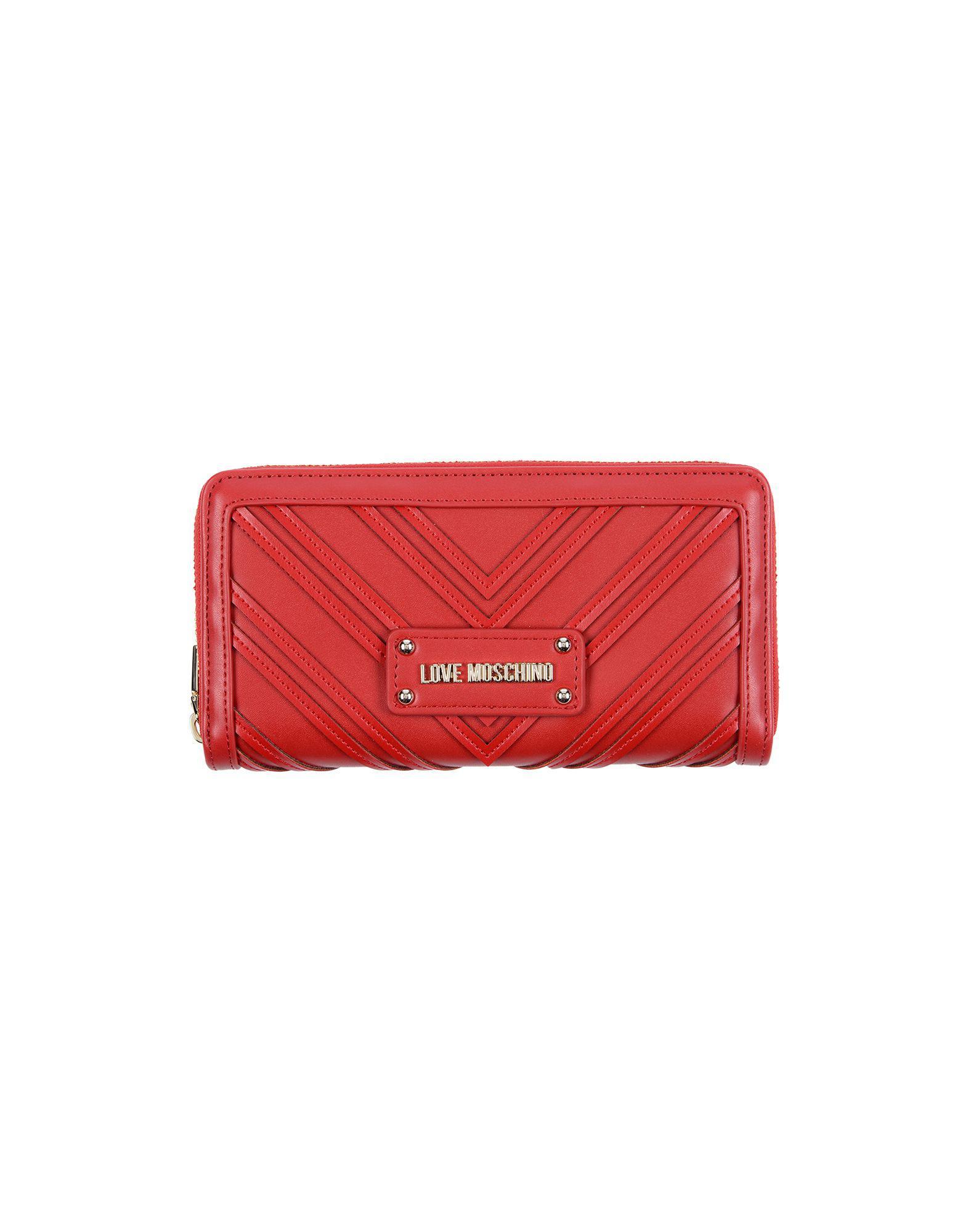 e0f9b66a42f Love Moschino - Red Wallet - Lyst. View fullscreen