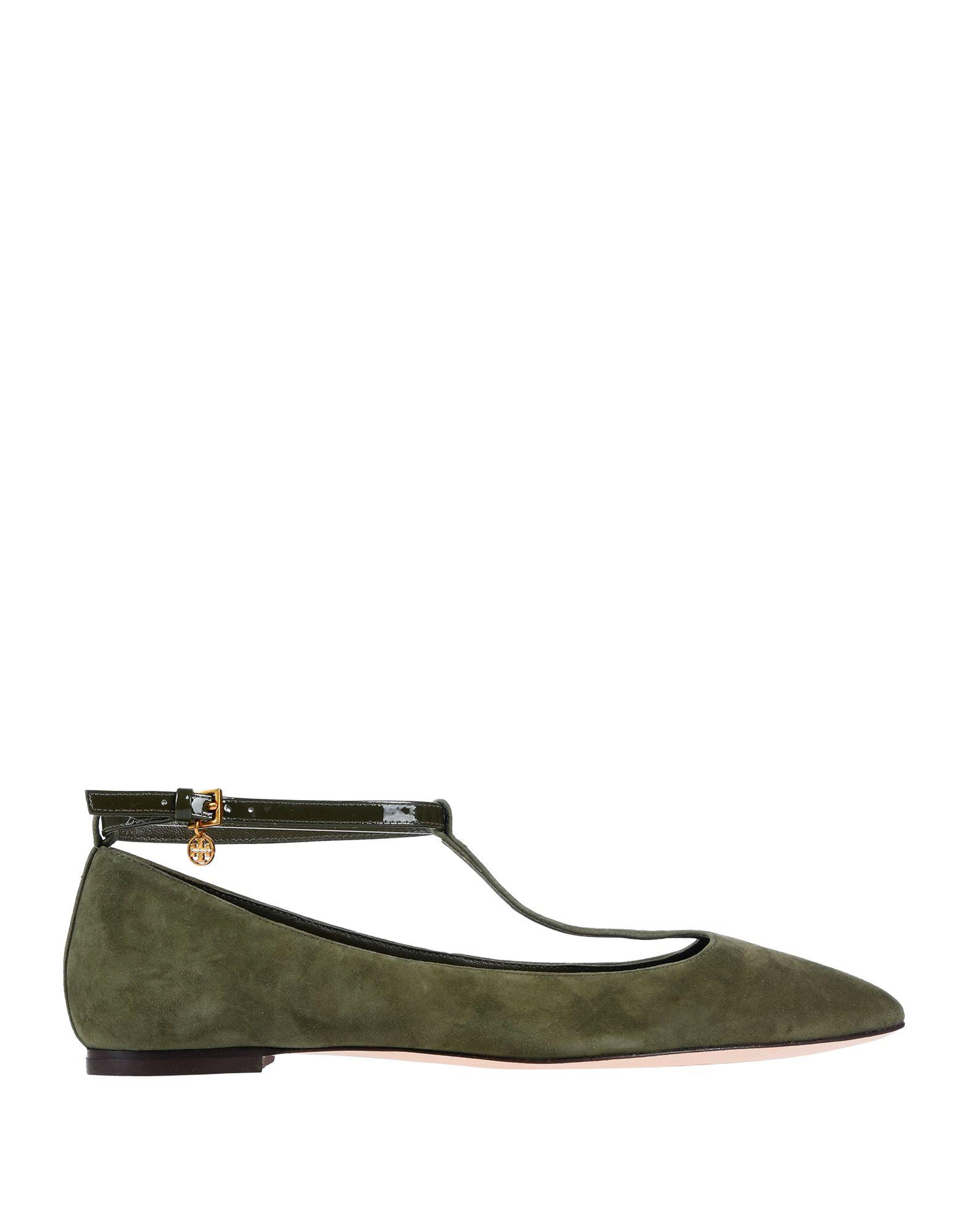 aad3b51826f851 Lyst - Tory Burch Ballet Flats in Green - Save 63%