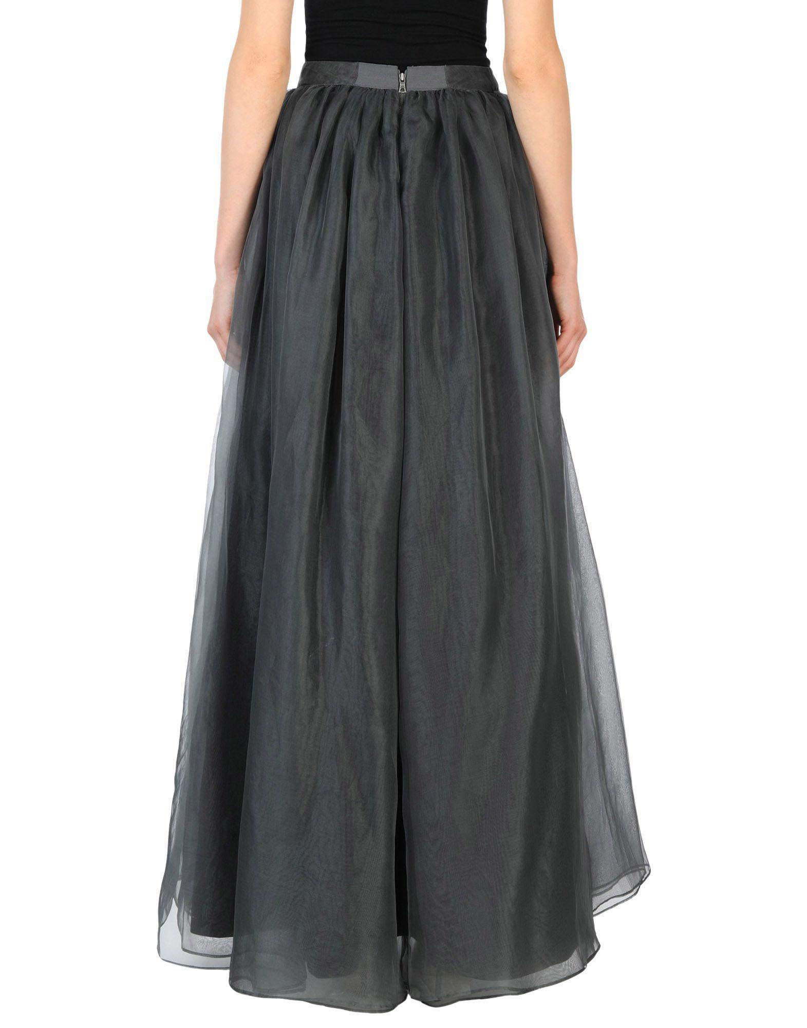 Lyst - Jupe longue Alice + Olivia en coloris Noir de24b71aff83