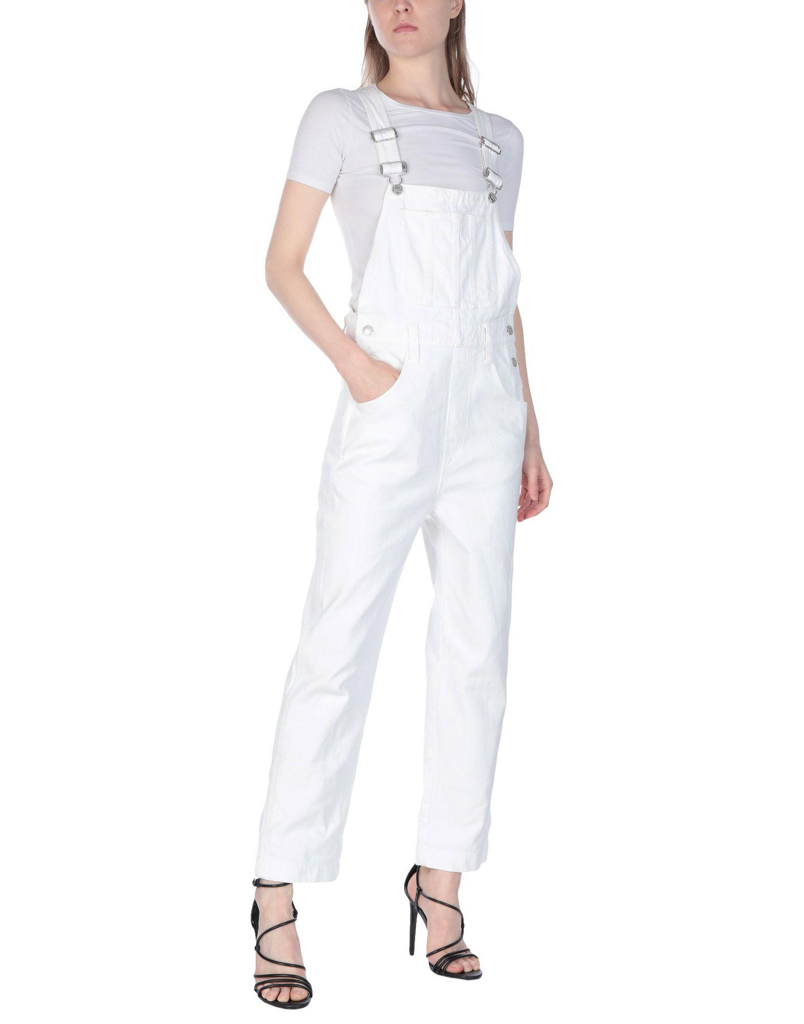 fe3ef6e3df Lyst - Madewell Dungarees in White