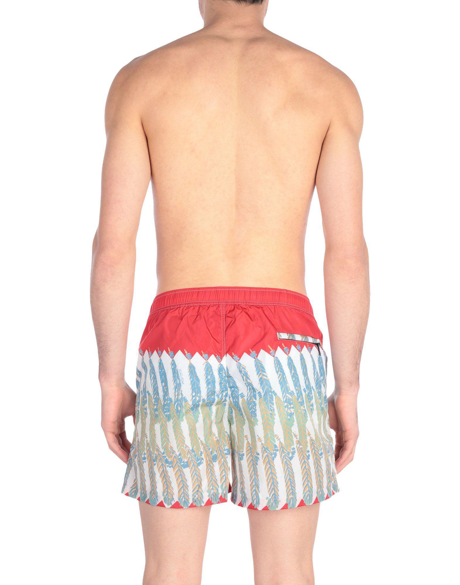 417f9ba437 Valentino Swim Trunks in Red for Men - Lyst