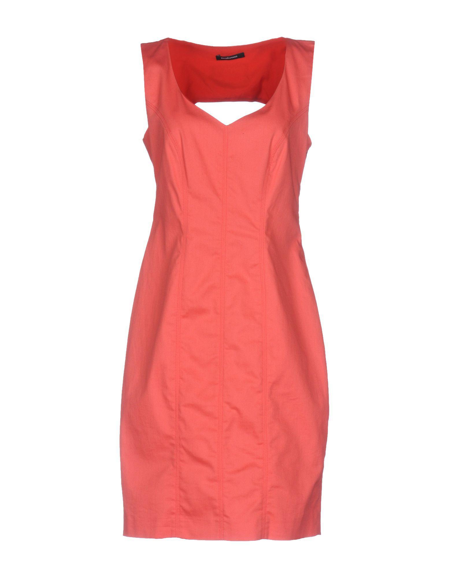 Rocco Barocco - Pink Short Dress - Lyst. View fullscreen a144ca920bc