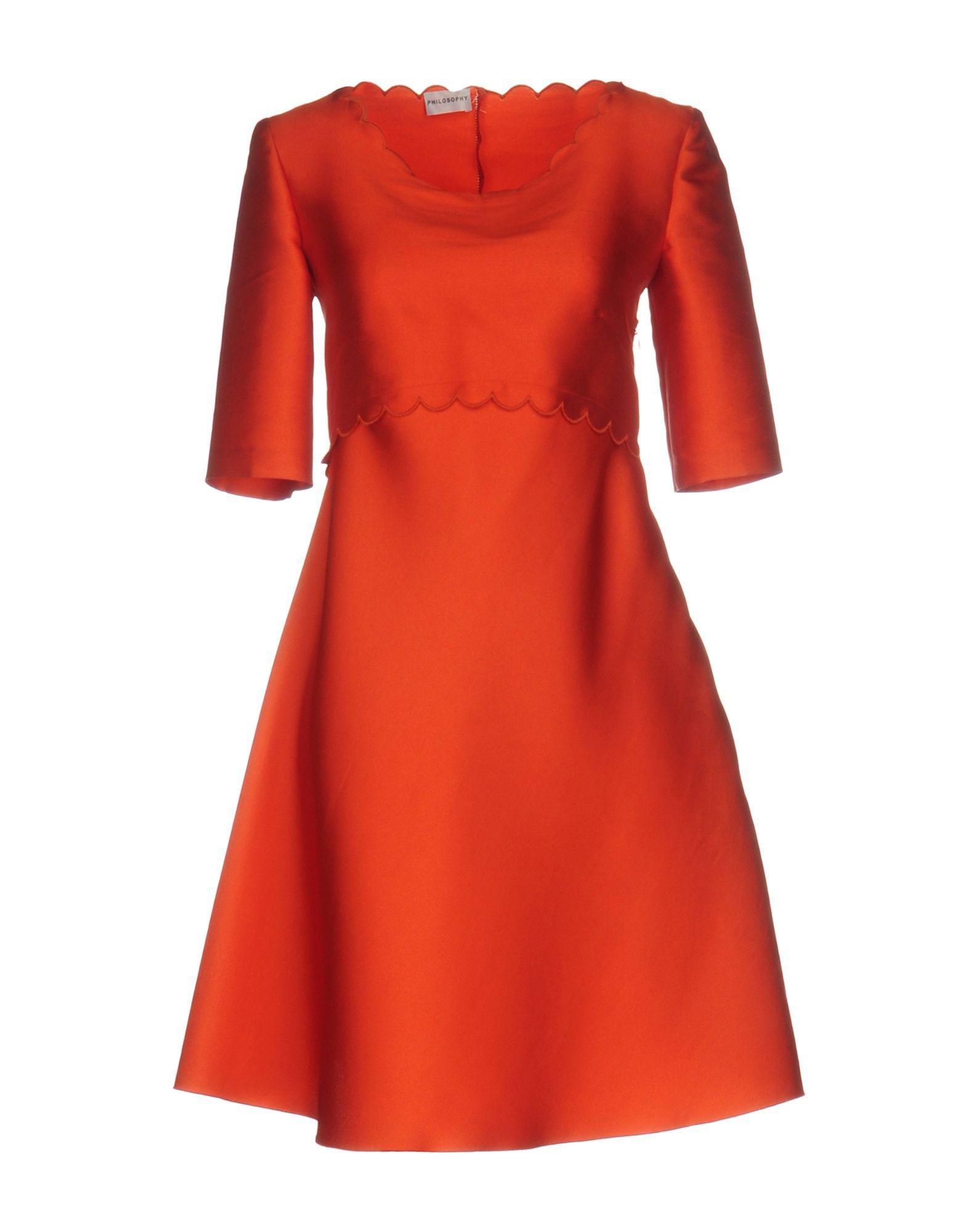 Philosophy di Alberta Ferretti Short Dress in Red - Lyst b86530499