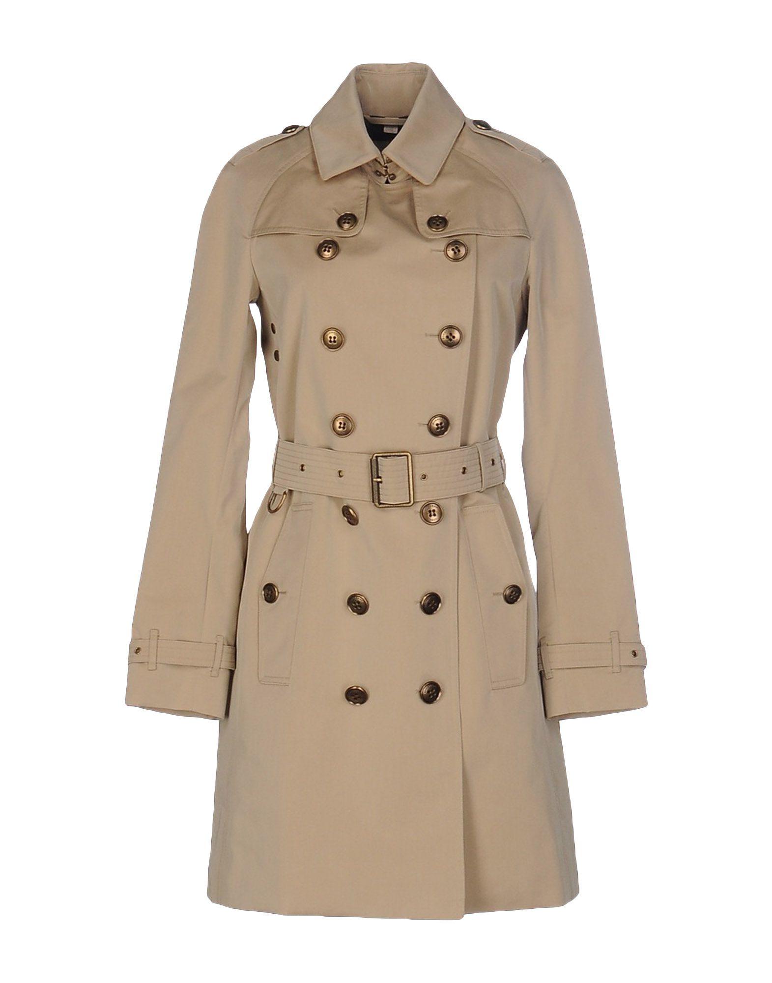 burberry brit full length jacket in beige lyst. Black Bedroom Furniture Sets. Home Design Ideas