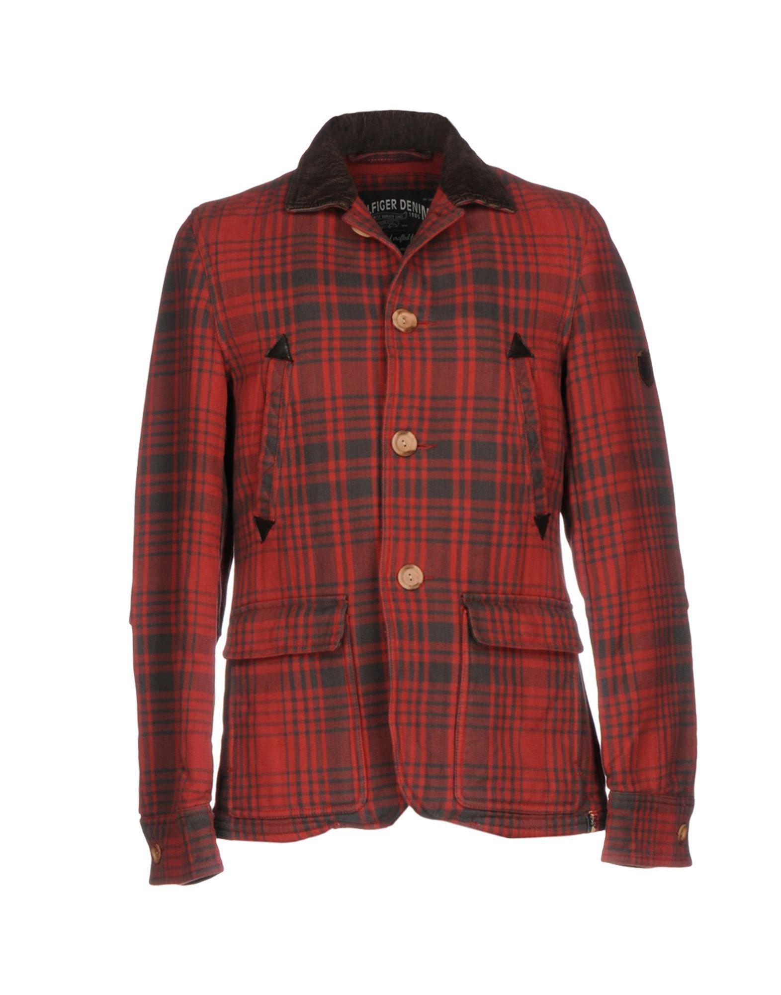 lyst hilfiger denim jacket in red for men. Black Bedroom Furniture Sets. Home Design Ideas