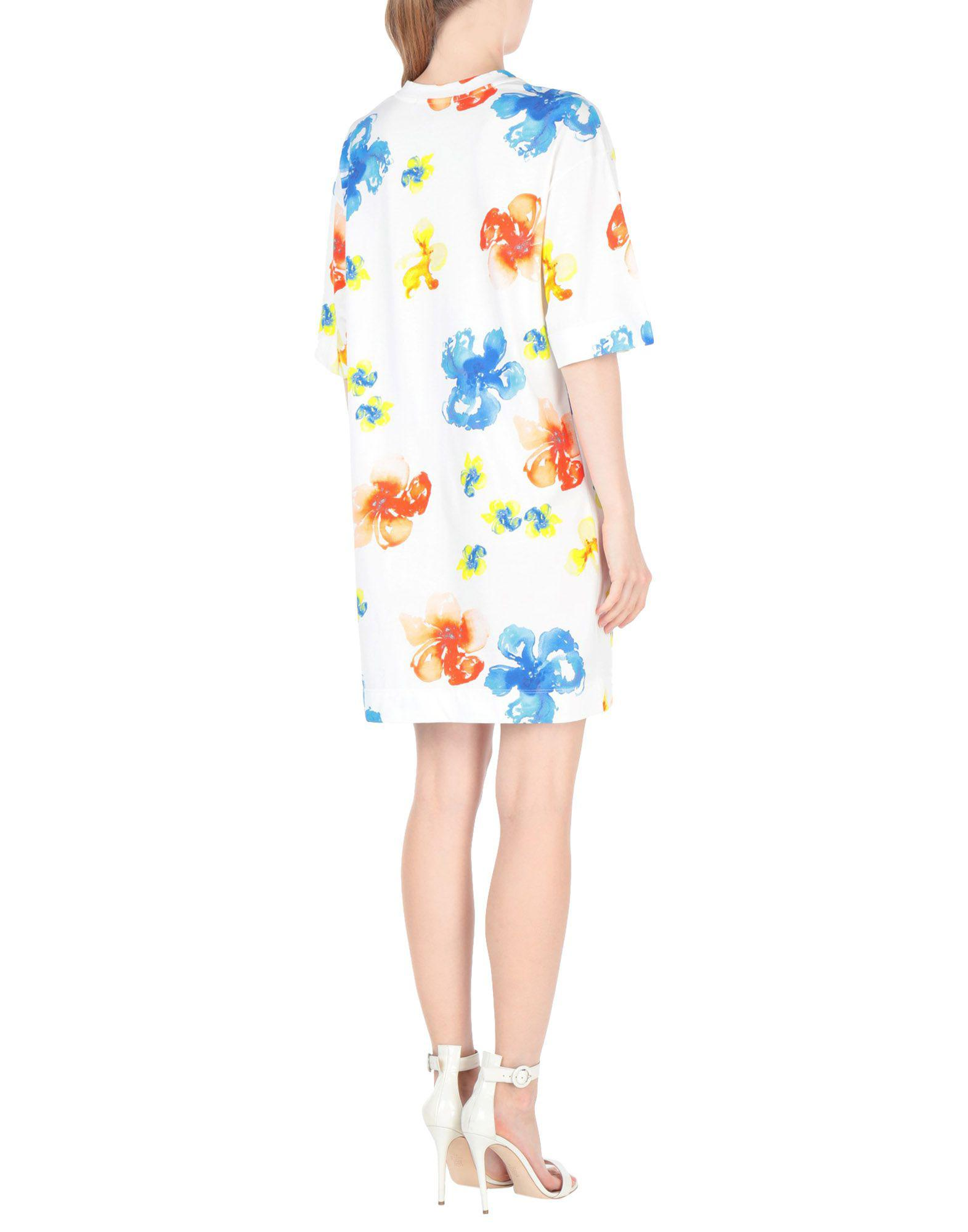 2be655d047f Lyst - Msgm Short Dress in White