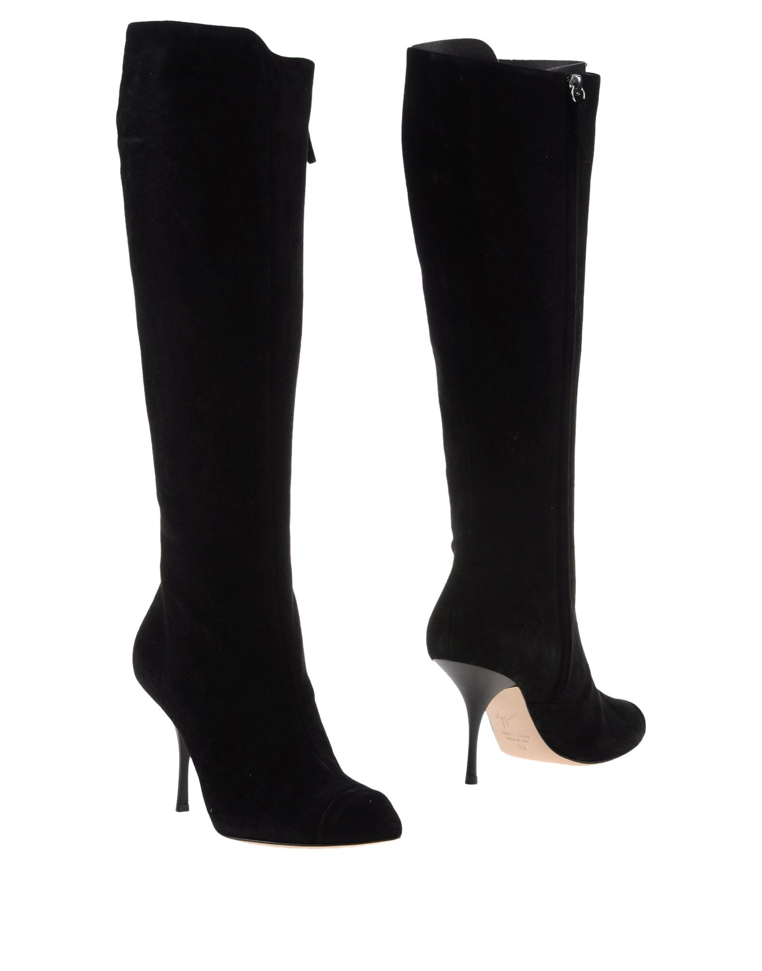 giuseppe zanotti suede knee high boots in black lyst