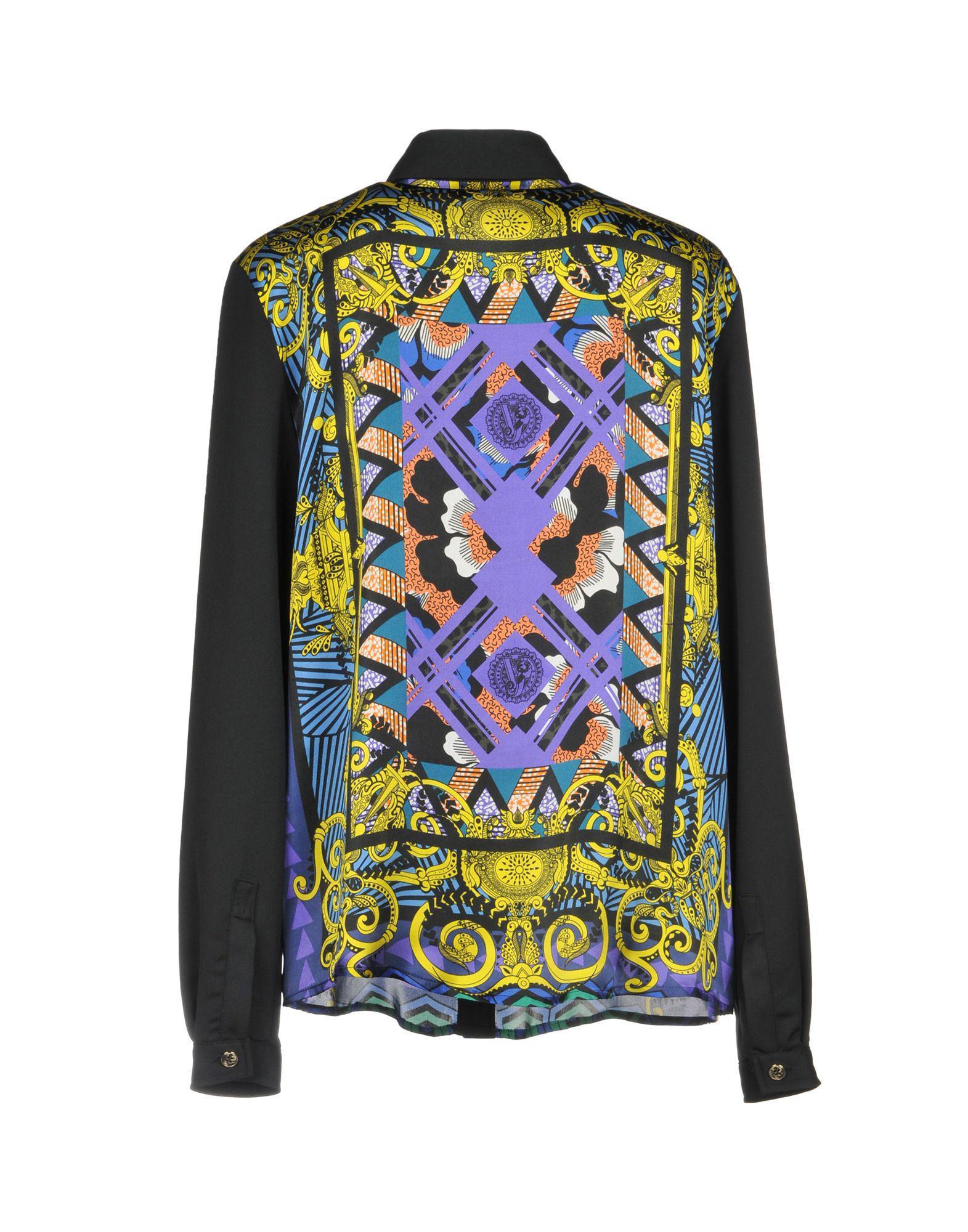 b1e0690b27f Coloris Versace Chemise Jeans En Lyst Noir x0Iqwp5p