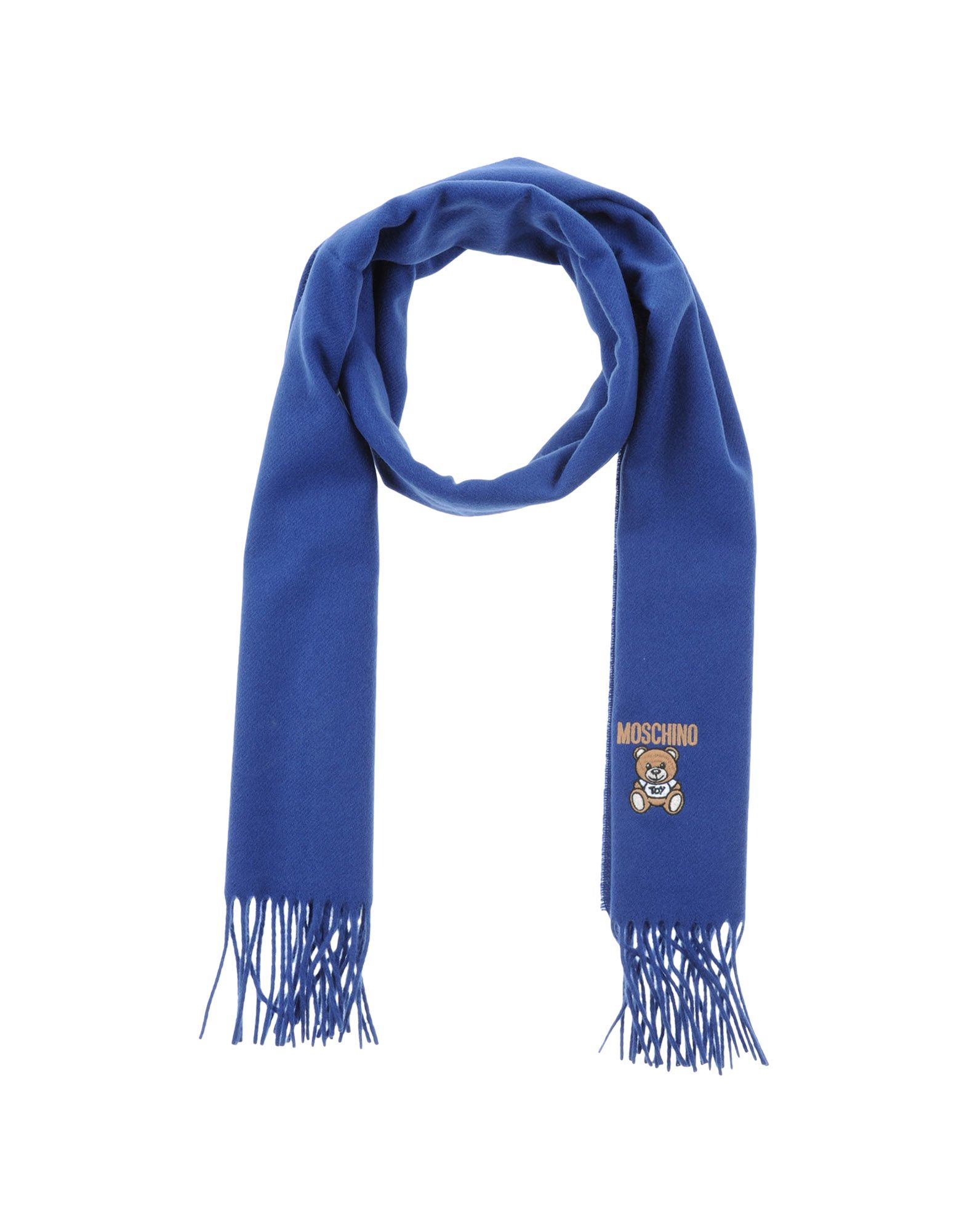 moschino oblong scarf in blue for lyst