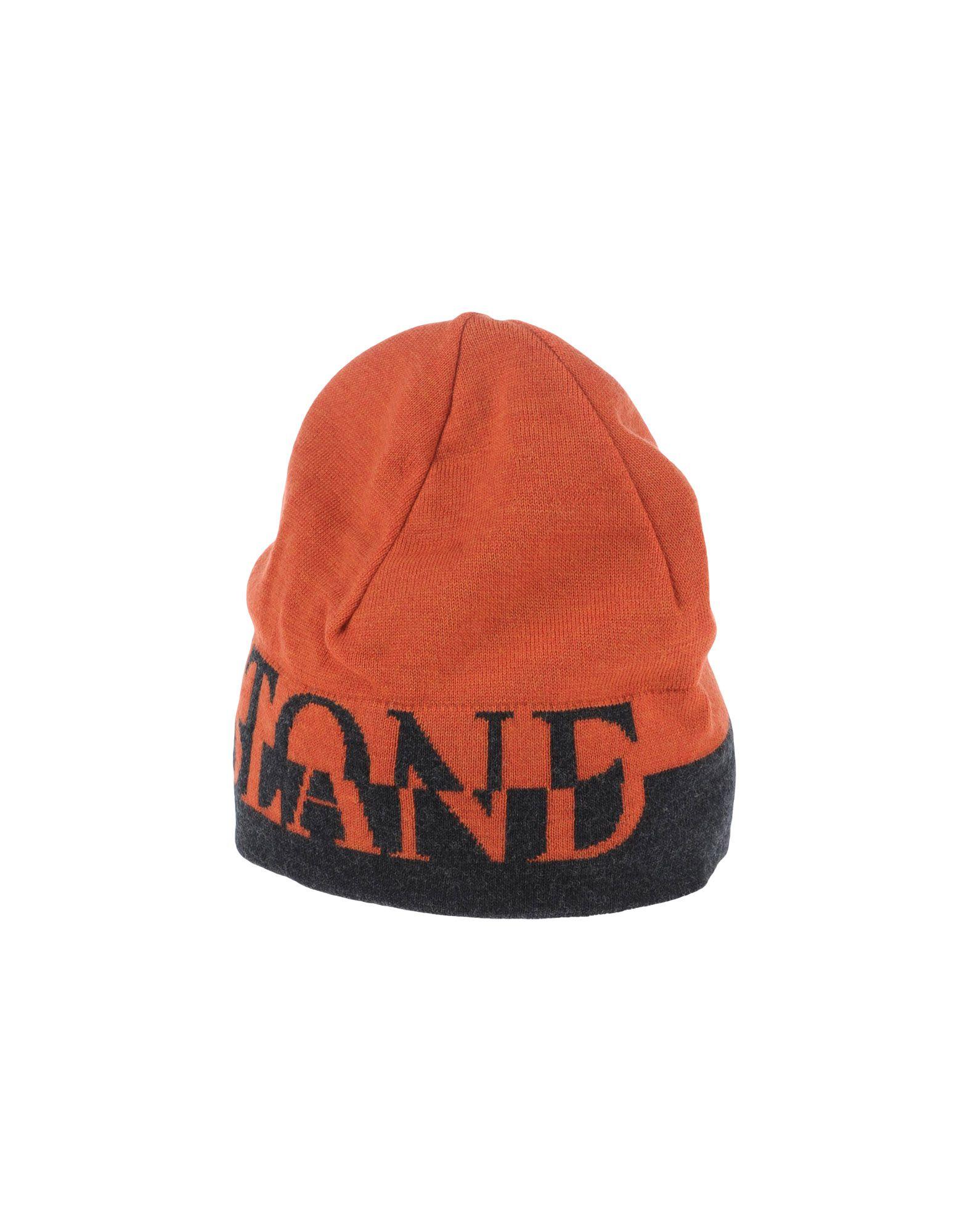 Stone island Hat in Orange for Men - Lyst