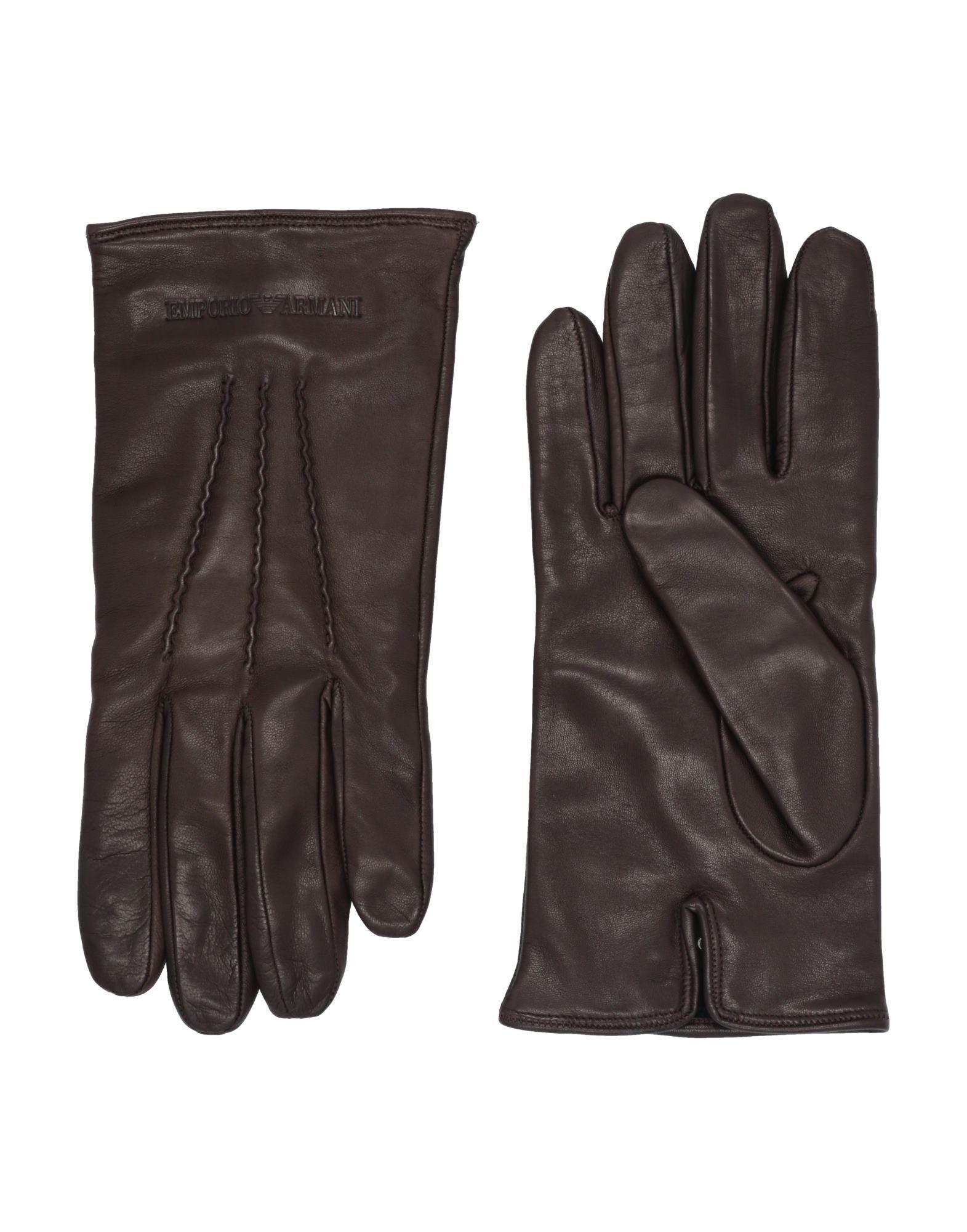 3542125bd56fb1 Emporio Armani Handschuhe in Braun für Herren - Lyst