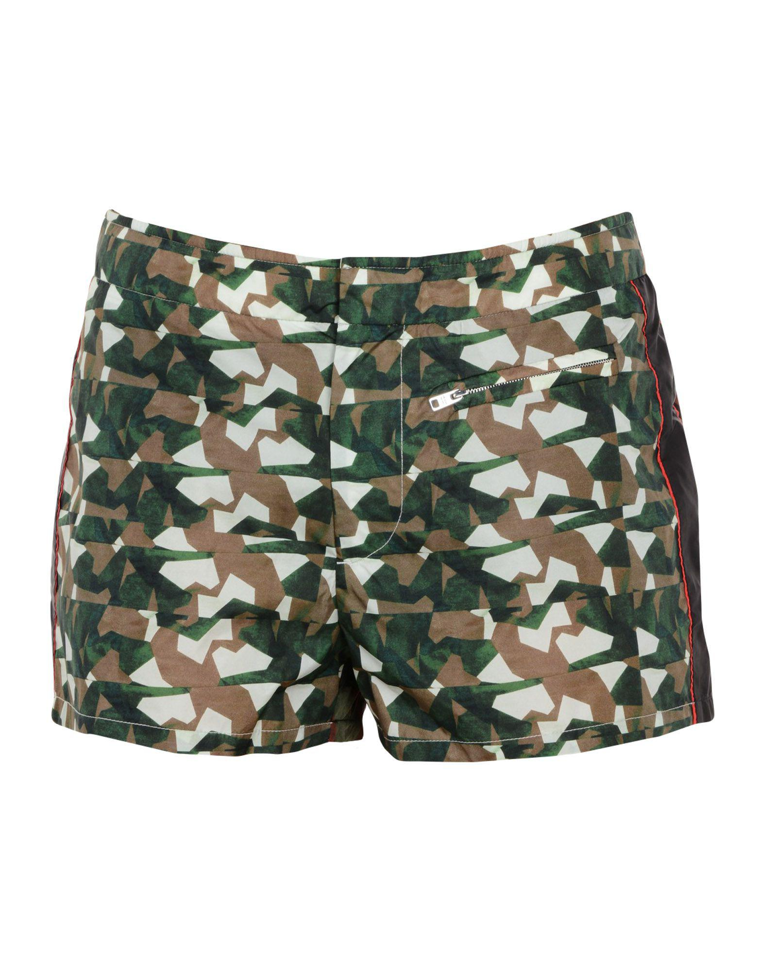 257ca18975 Prada Swimming Trunks in Green for Men - Lyst