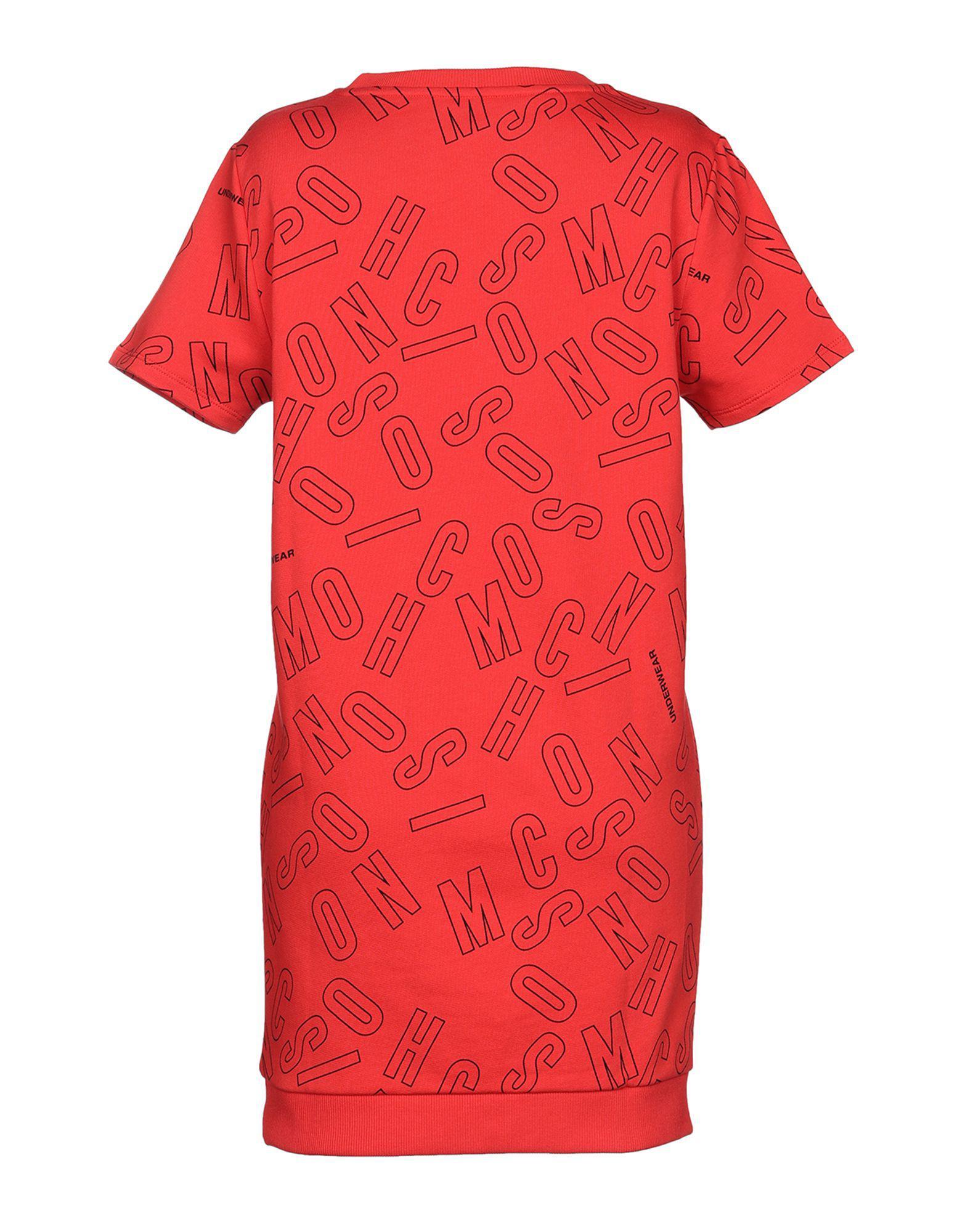Moschino Nightdress in Red - Lyst edd79da1e