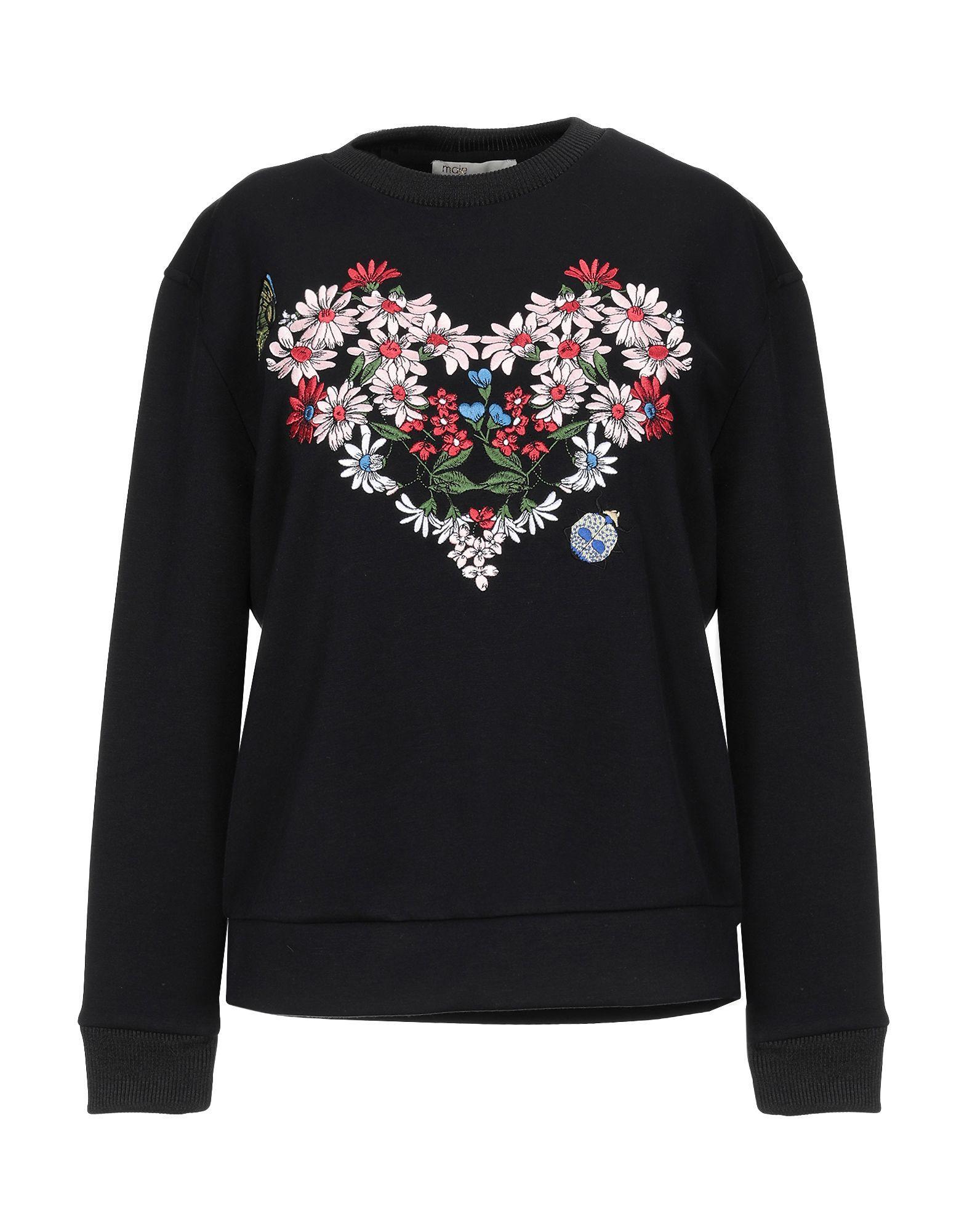 d0620369b6 Lyst - Maje Sweatshirt in Black - Save 25%