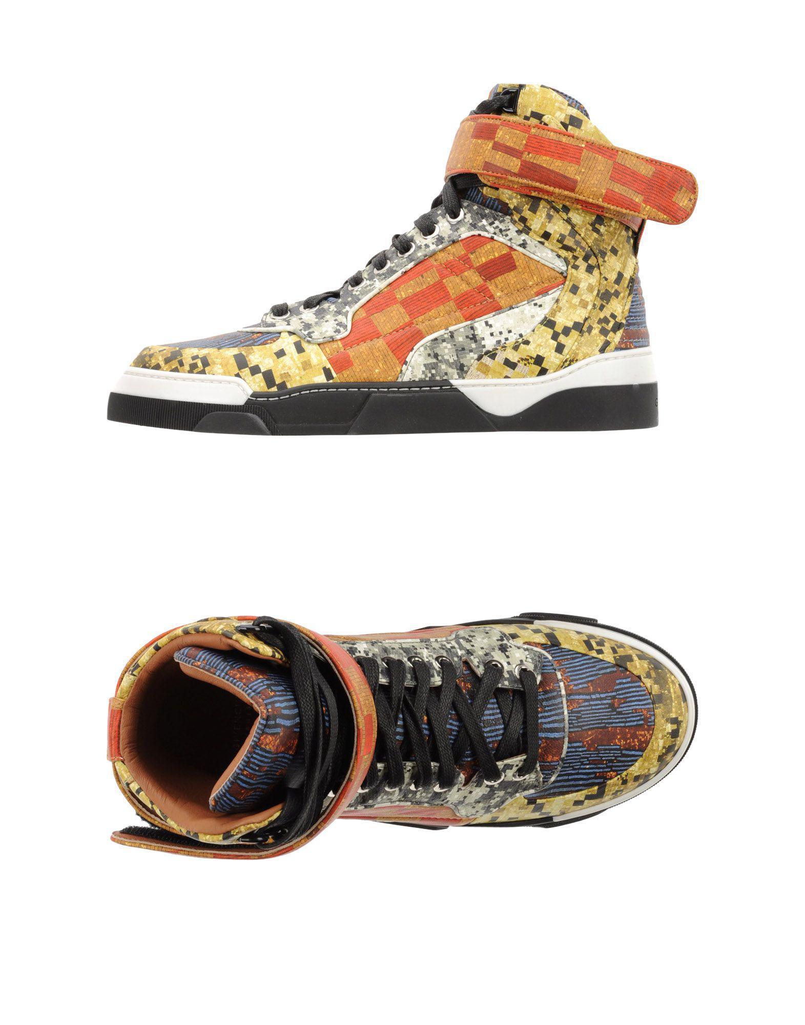 De Givenchy Lyst Sneakers Amarillo Abotinadas Color OuPkZiX