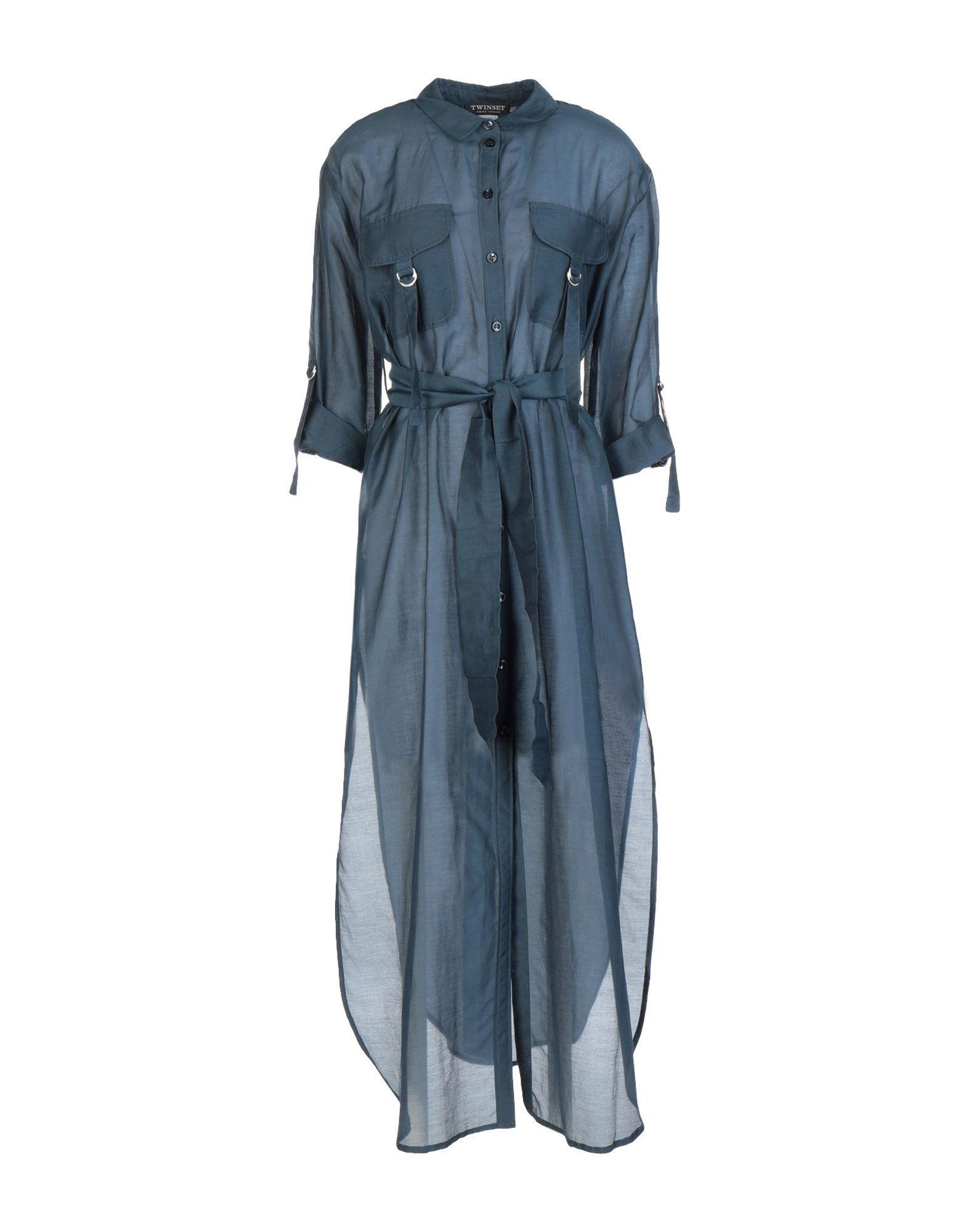 Lyst - Vestido largo Twin Set de color Azul ad2c94c60233