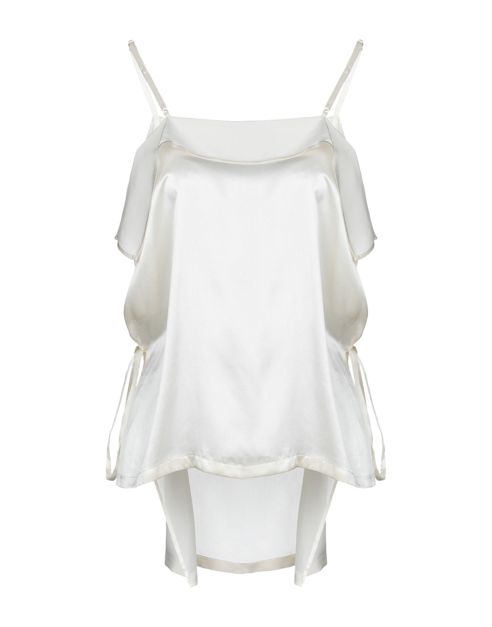 Lyst - Yohji Yamamoto Top in White 1ad0aa4c4a