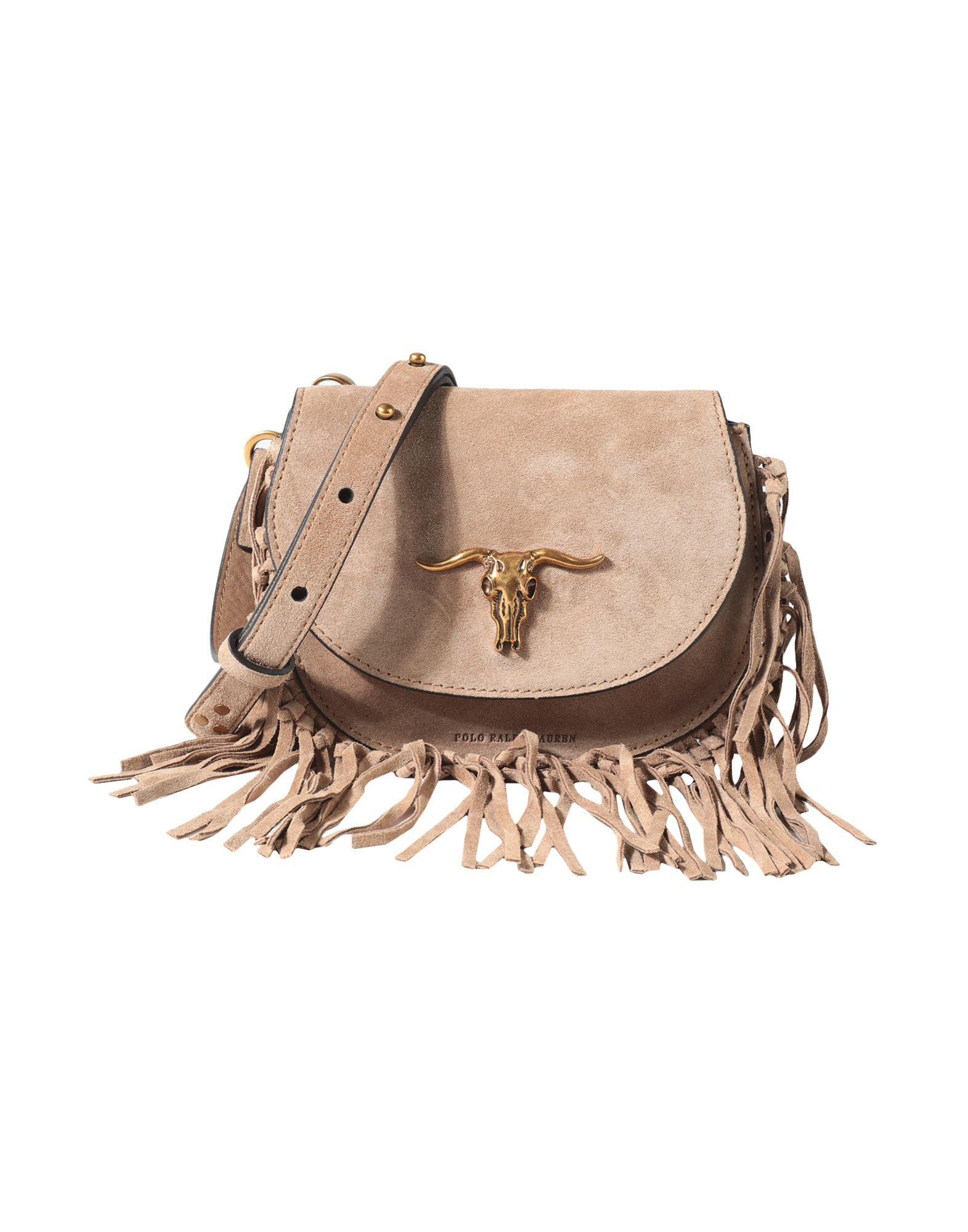 e3210918f1 Polo Ralph Lauren Cross-body Bag in Natural - Save 48% - Lyst