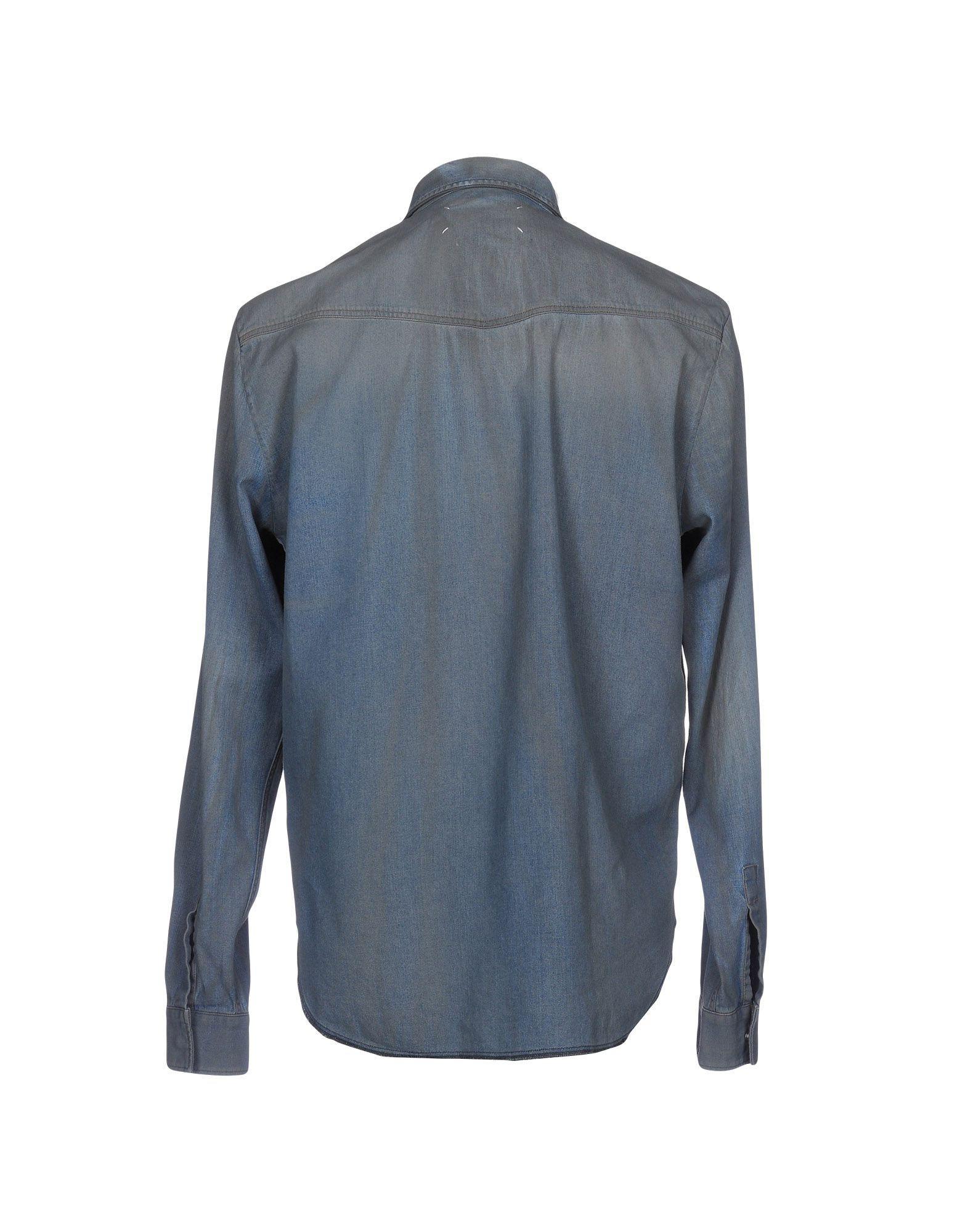 36349f3e08ab Lyst - Maison Margiela Denim Shirt in Blue for Men