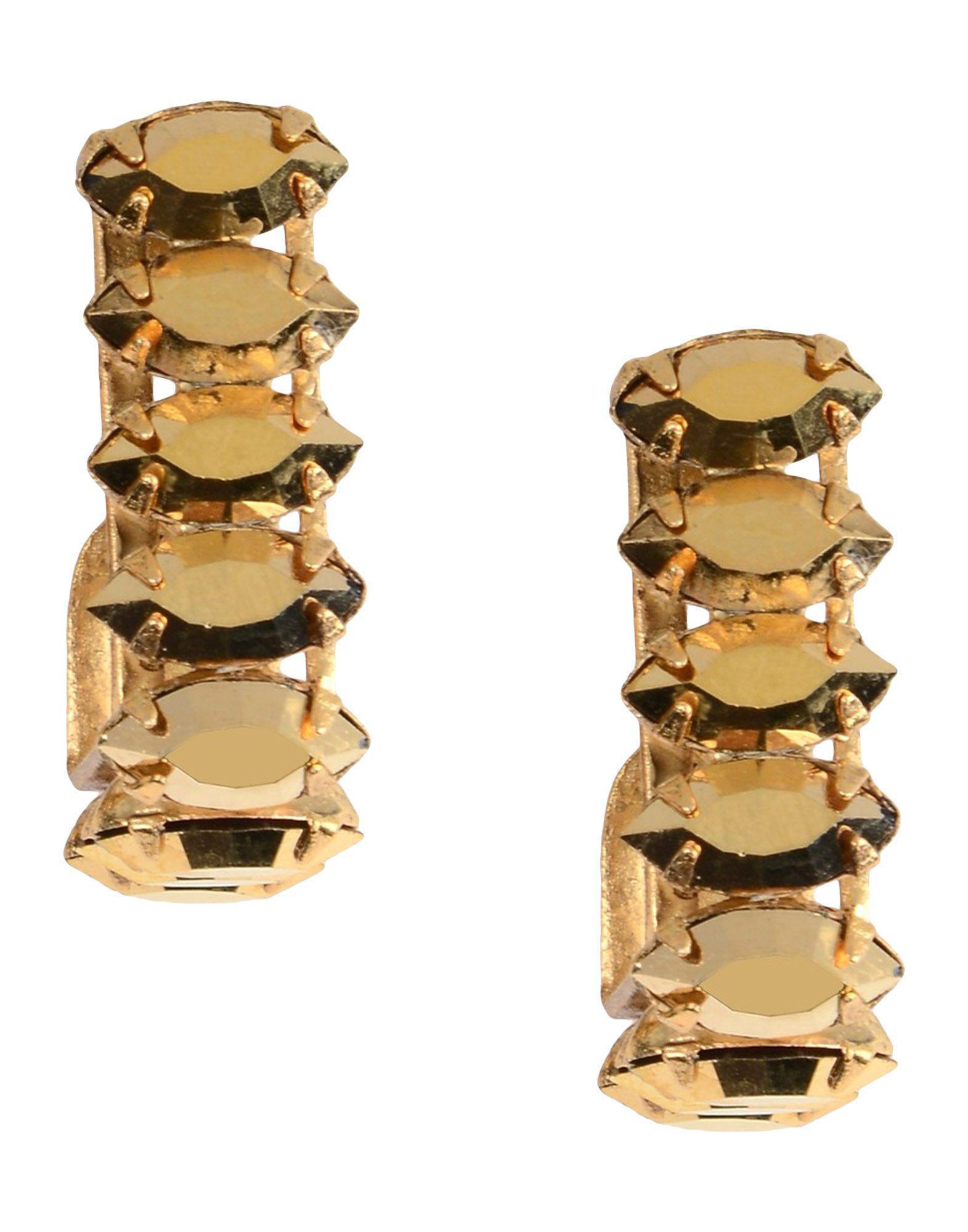 Elizabeth Cole Earring in Metallic Gold WRrDC