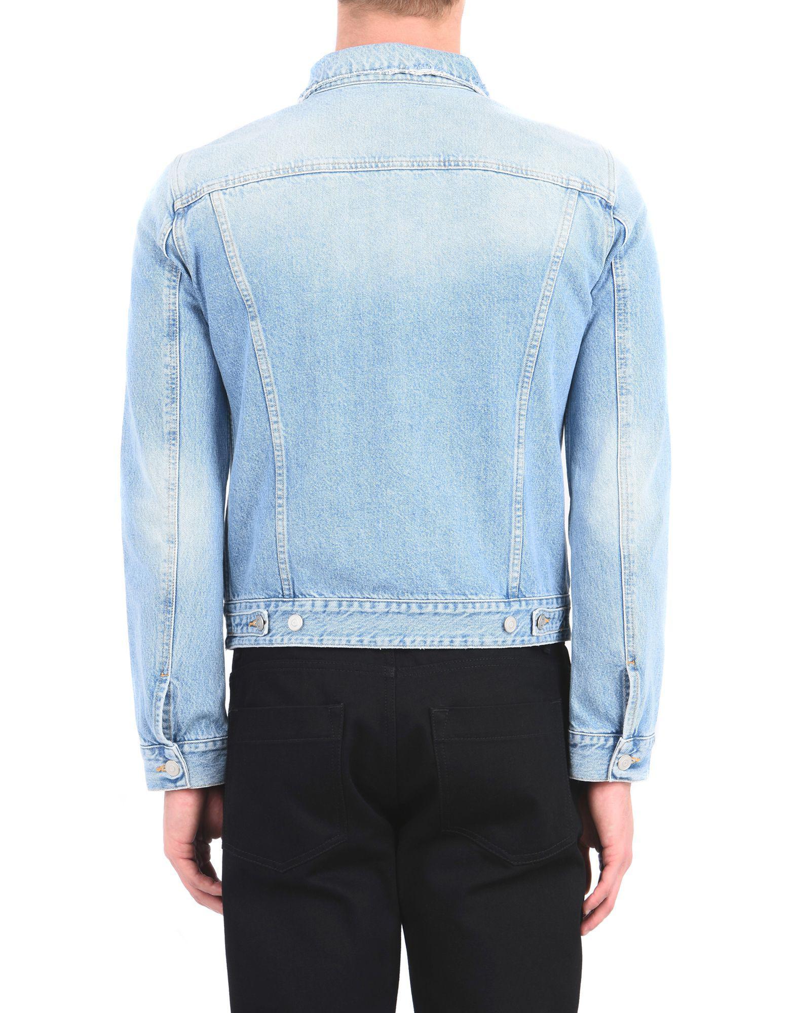 d5e9d8898ff5 Lyst - Manteau en jean Harmony Paris pour homme en coloris Bleu