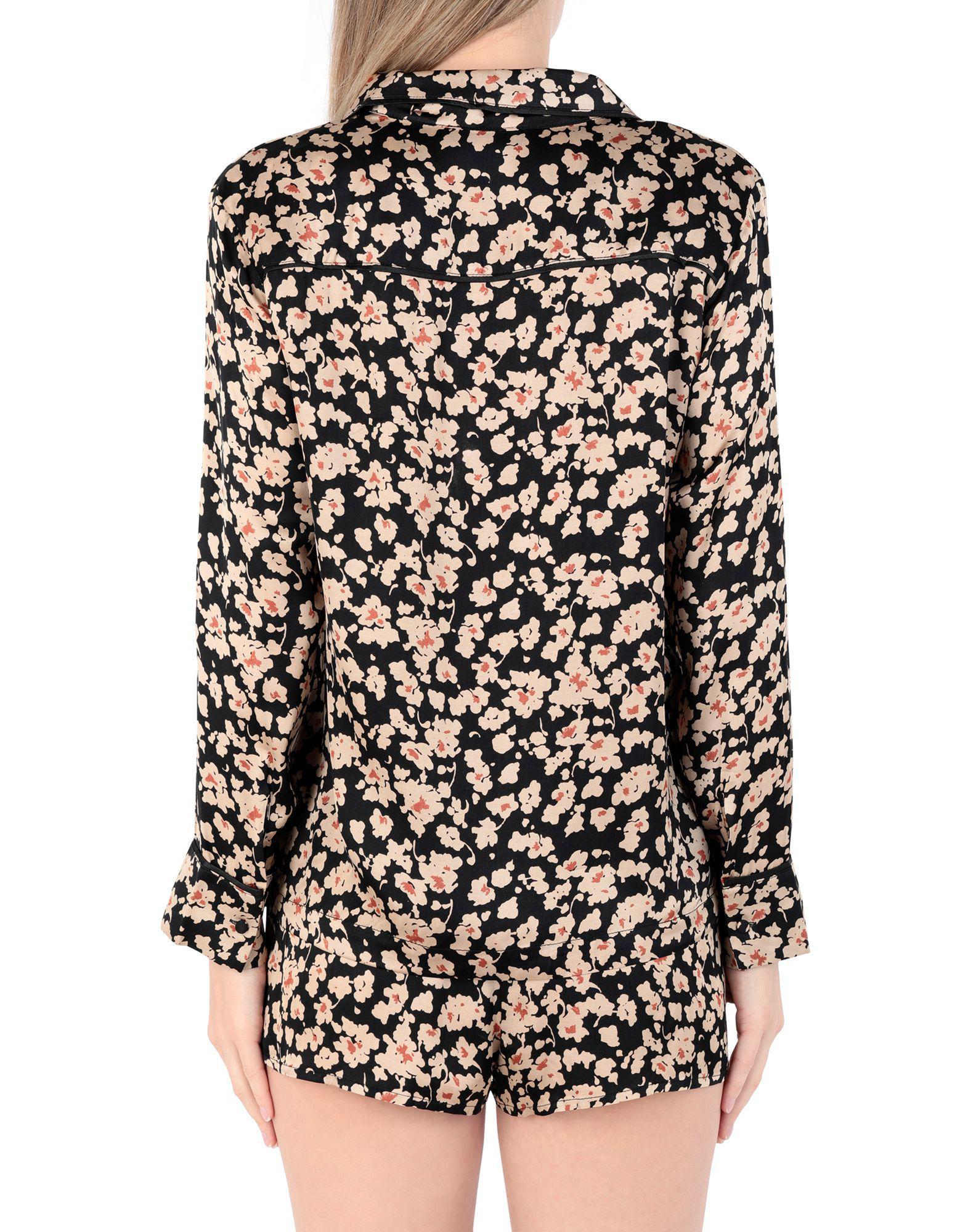 esmeralda de estampado talla con cortos satén de L de Pantalones pijama cebra mujer BvtO1
