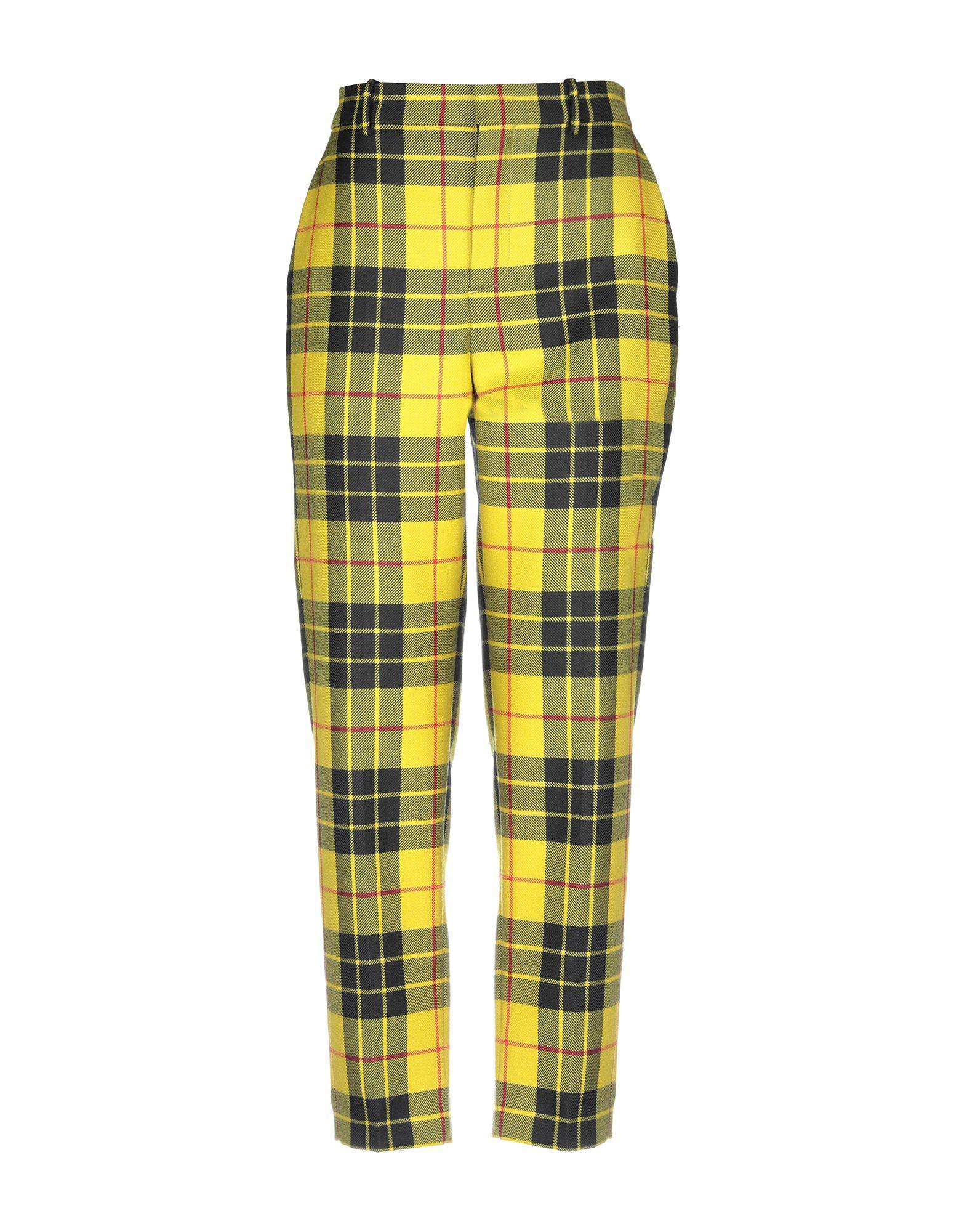 5f11145cb49f Lyst - Balenciaga Casual Trouser in Yellow - Save 43%