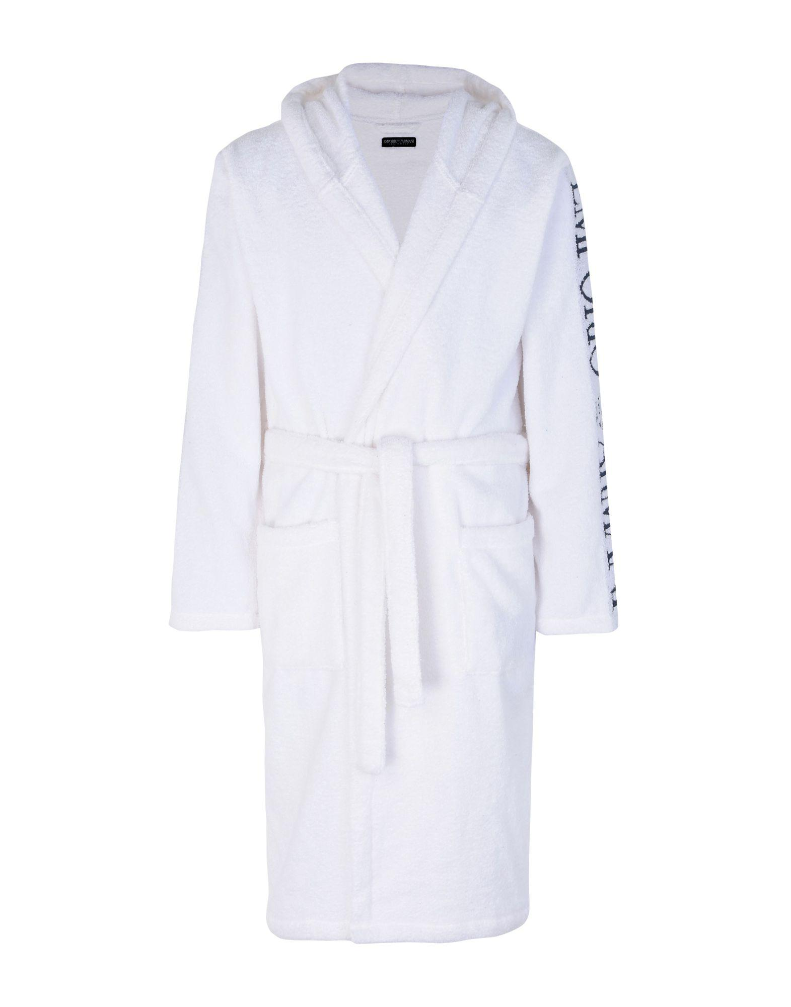 Emporio Armani Towelling Dressing Gown in White for Men - Lyst 5f0fdfed8