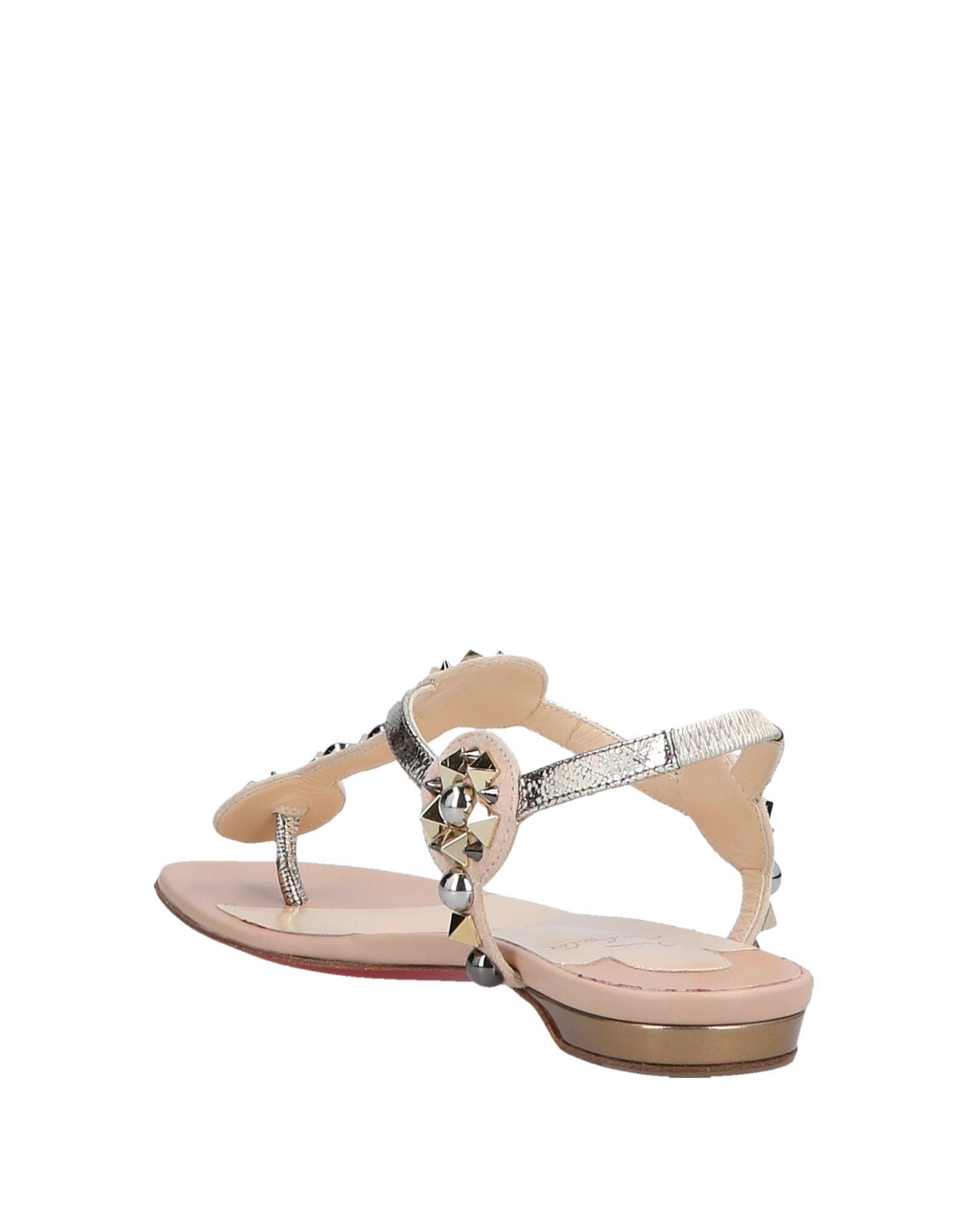 c0716a827598 Lyst - Christian Louboutin Toe Post Sandal in Pink