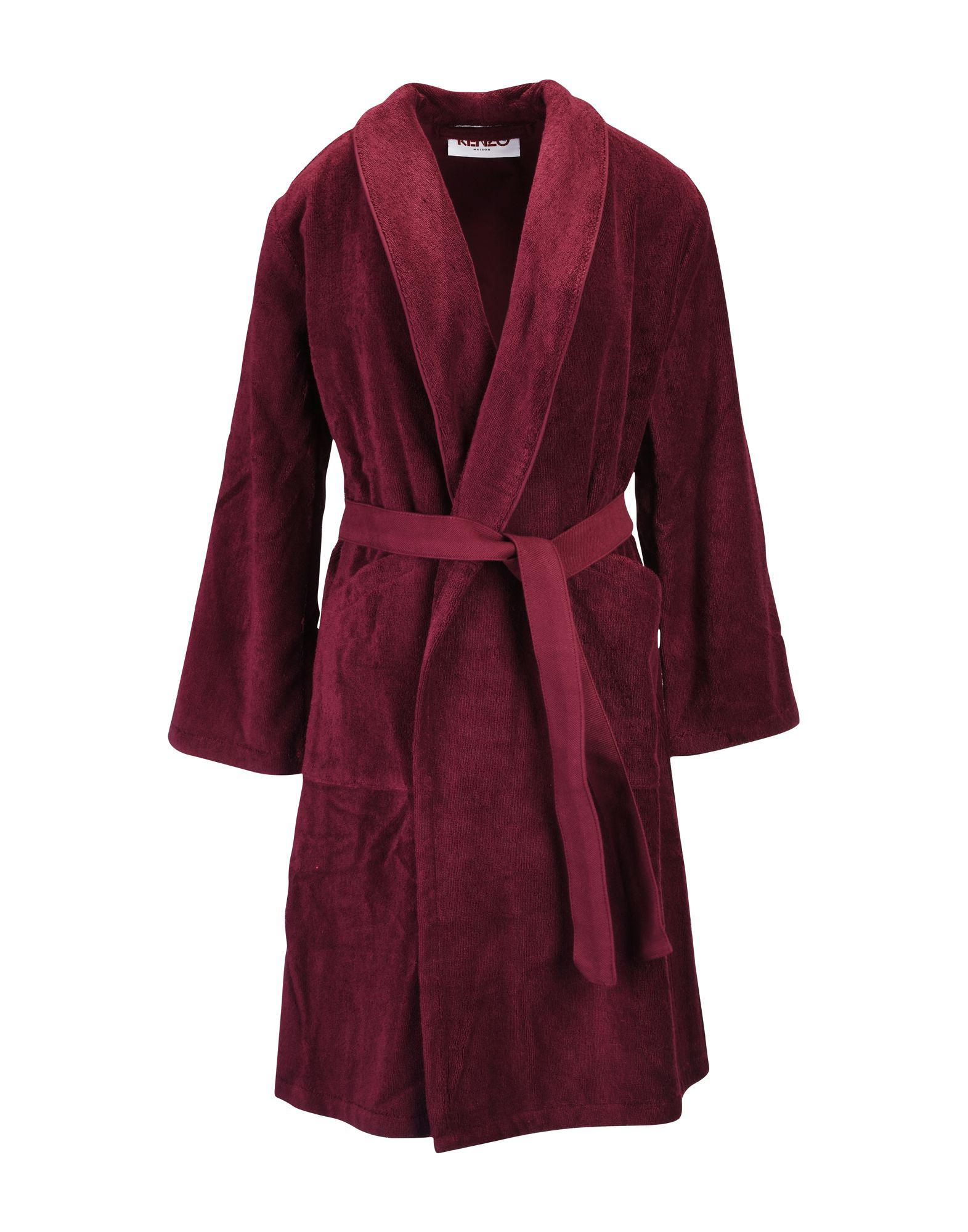 KENZO Towelling Dressing Gown in Red for Men - Lyst a67248003