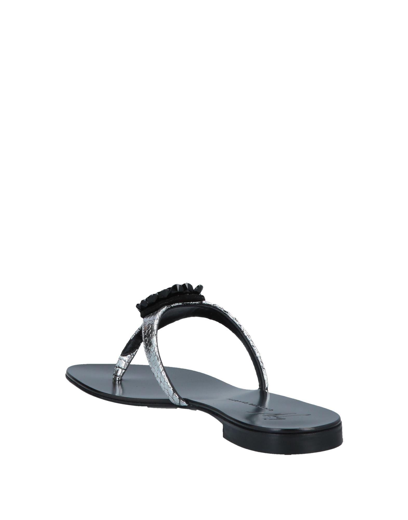 aebebb967be3e8 Lyst - Giuseppe Zanotti Toe Post Sandal in Metallic