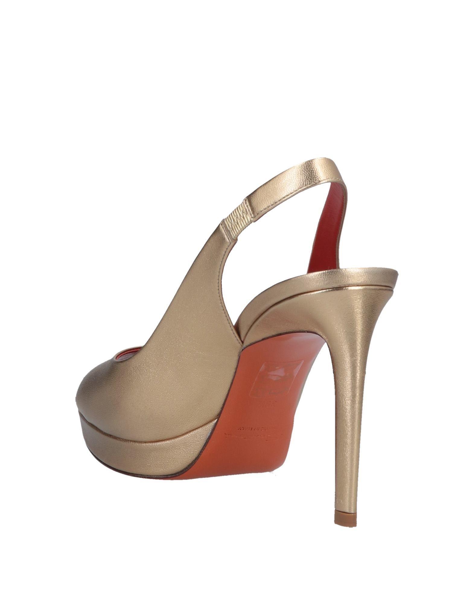 b2b14d0a836f Lyst - Santoni Sandals in Metallic