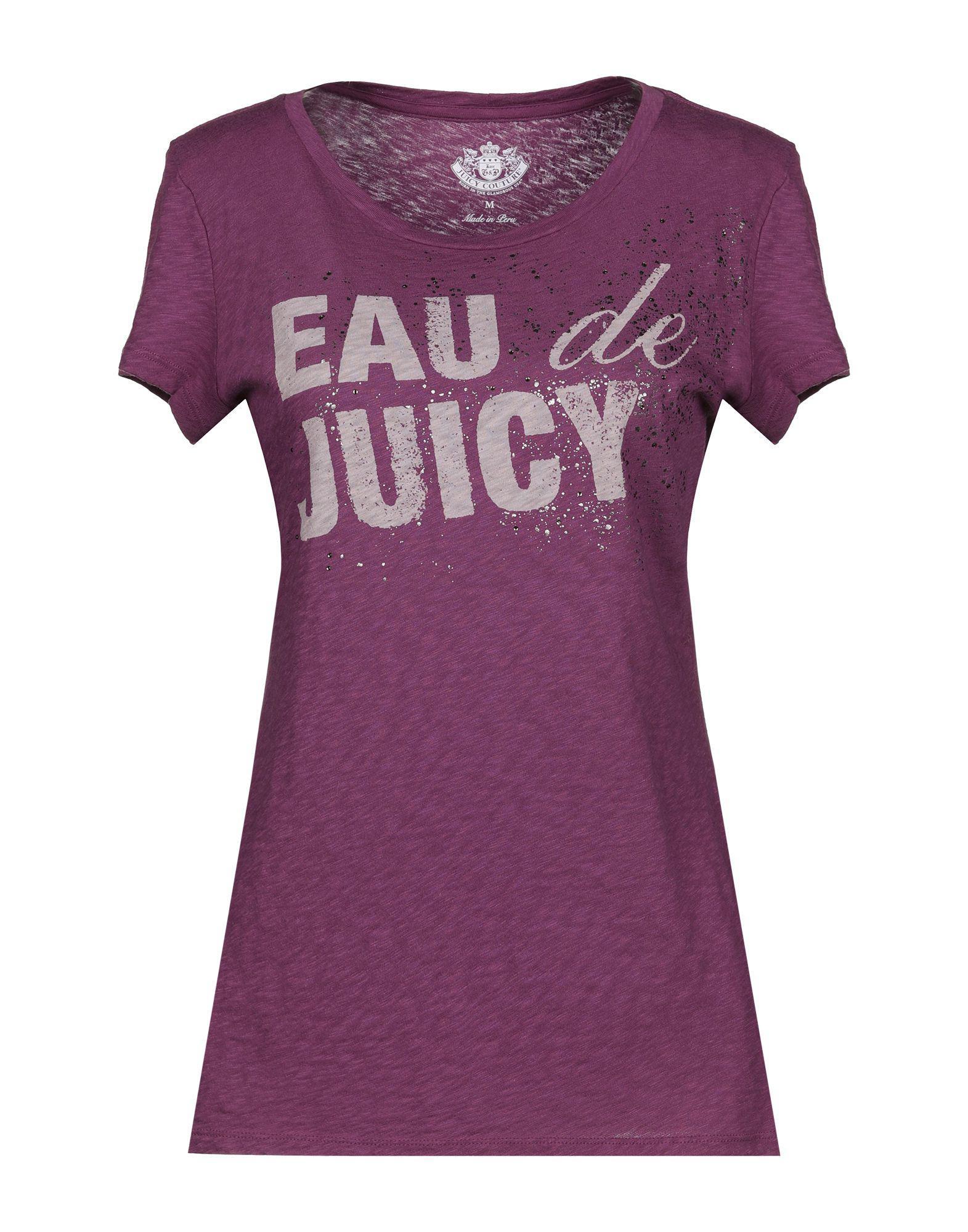 e45c9ca4beca Juicy Couture T-shirt in Purple - Lyst