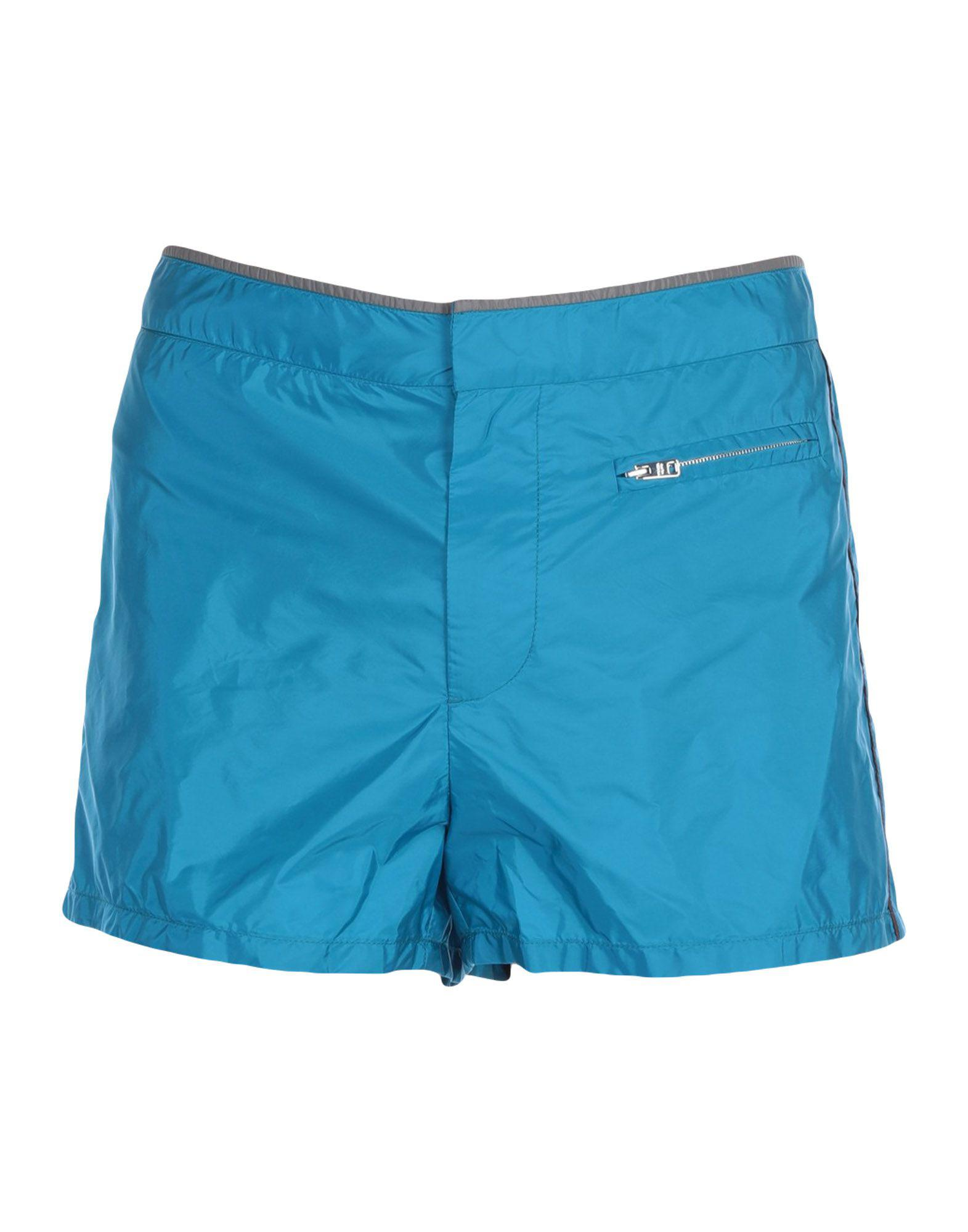 7ff595e27d Prada Swimming Trunks in Blue for Men - Lyst