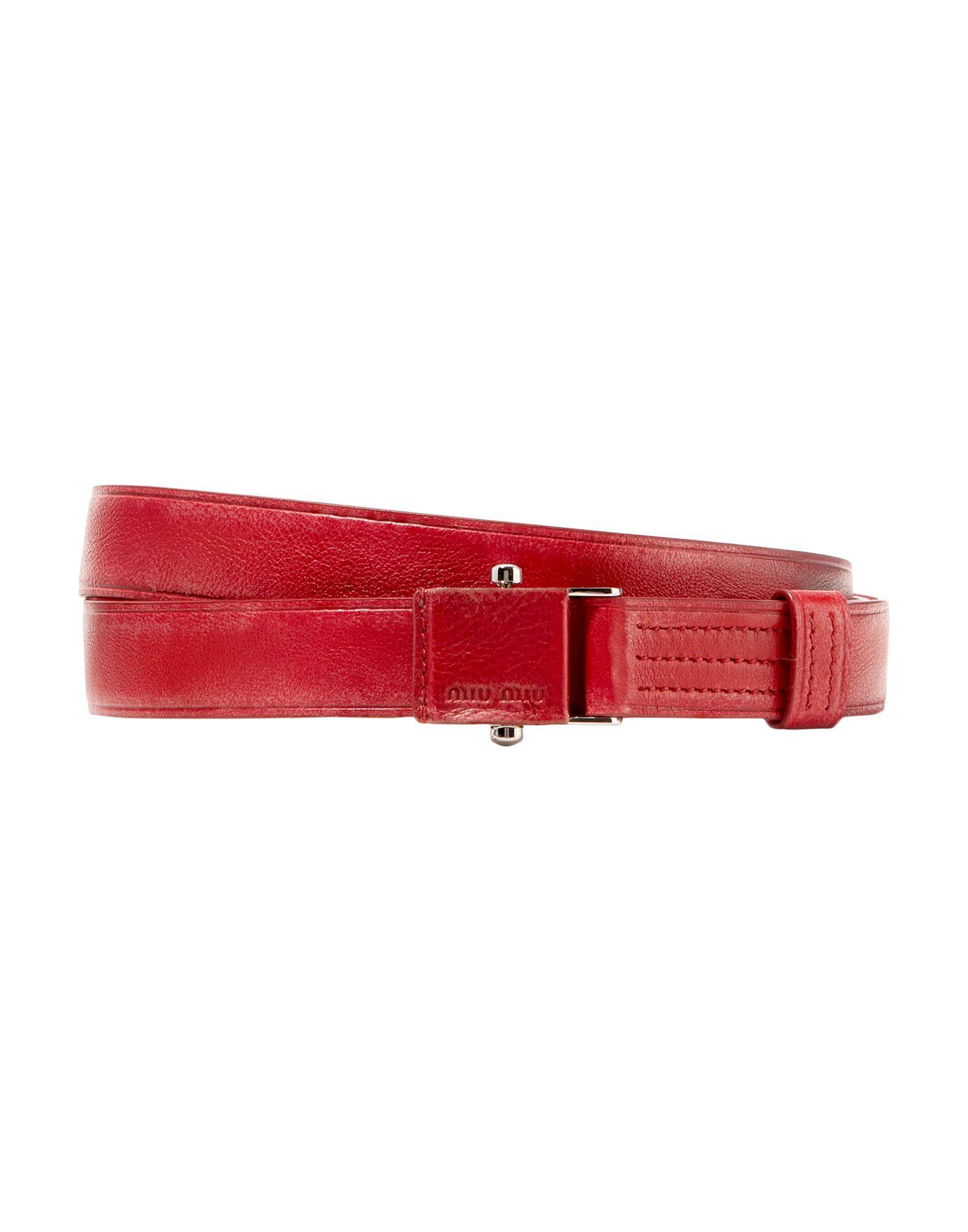 bb9e00b94f070 Lyst - Miu Miu Belt in Red
