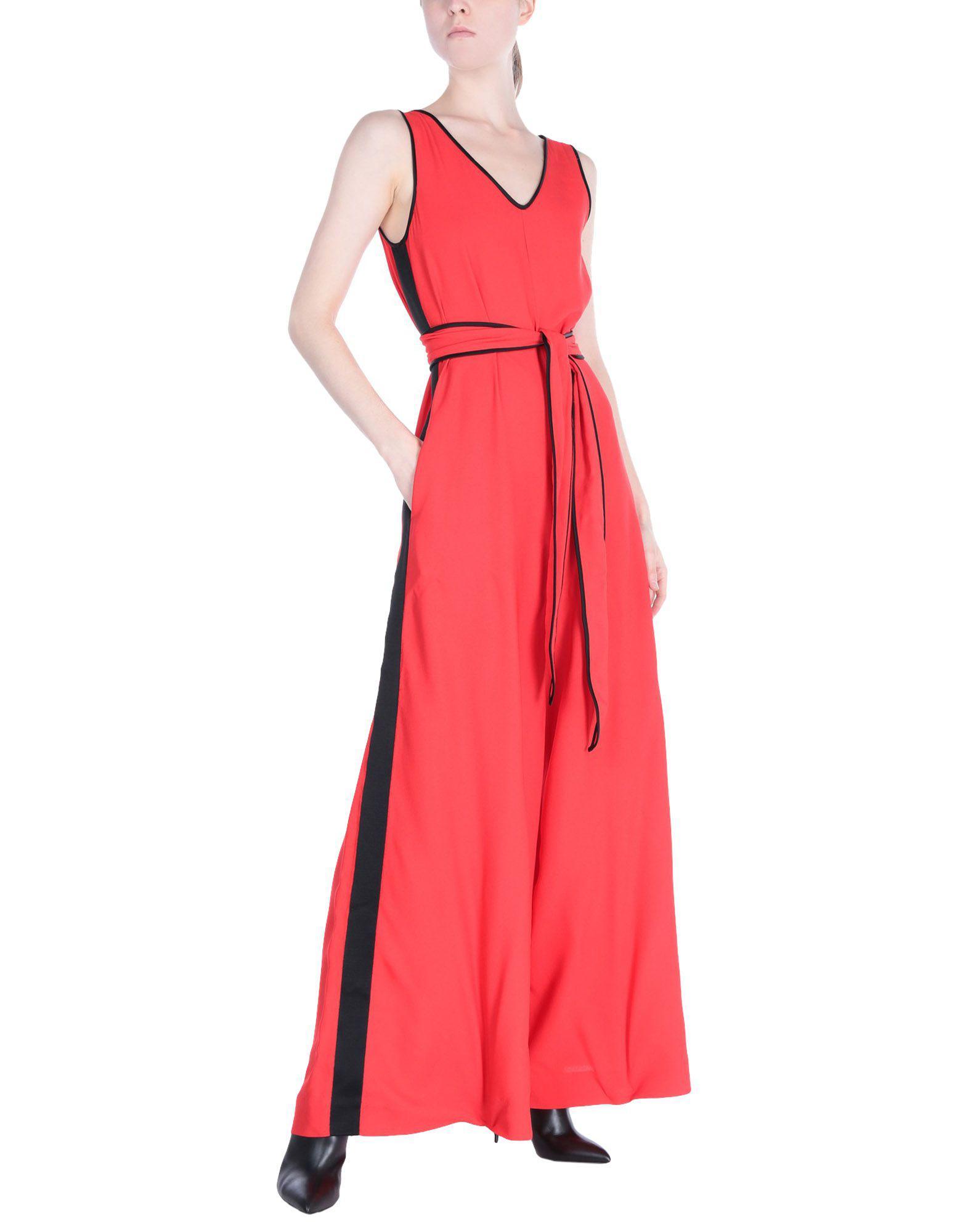 66865eeae02 Lyst - Diane Von Furstenberg Jumpsuit in Red